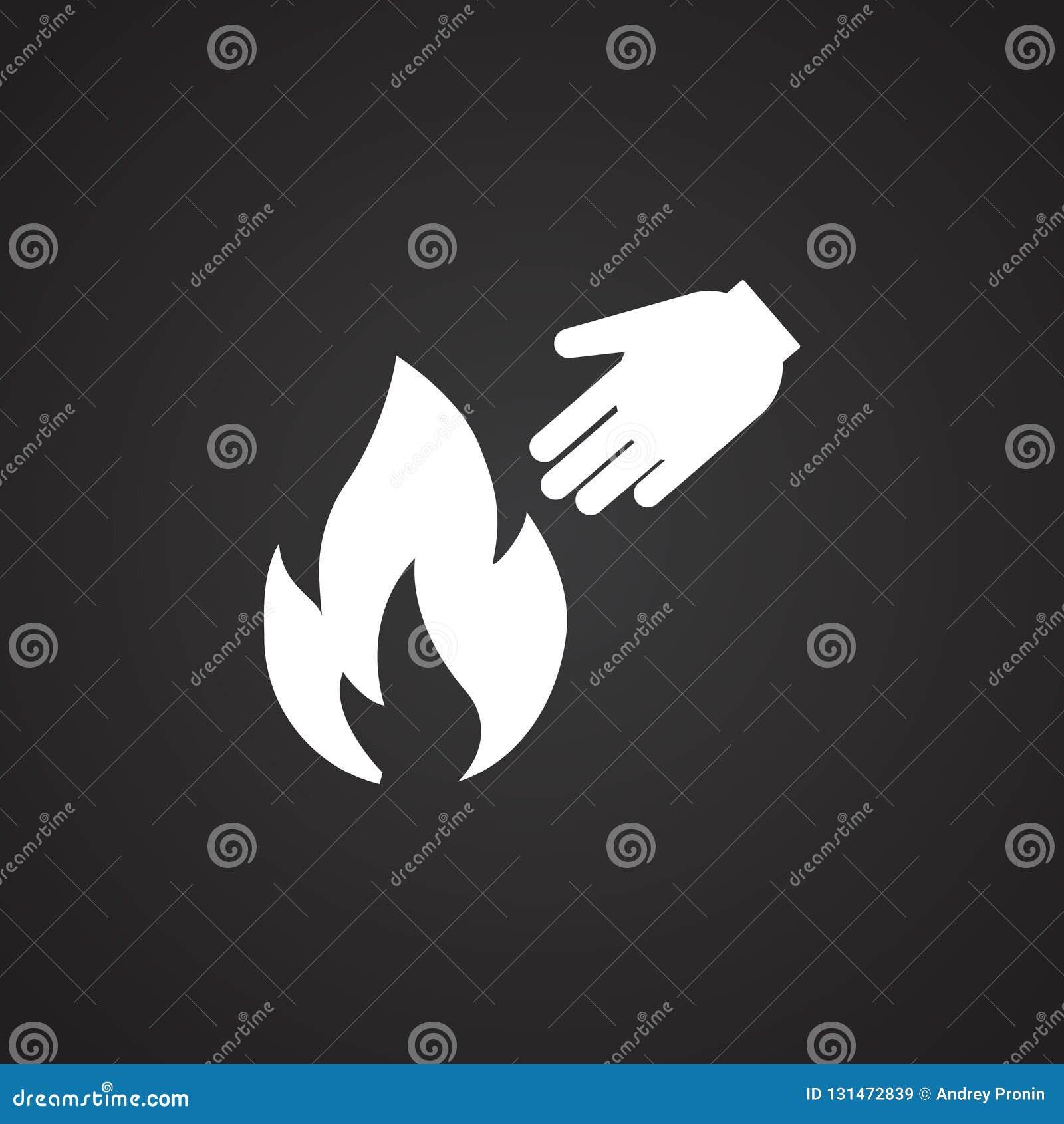 Brandgevaar op zwarte achtergrond