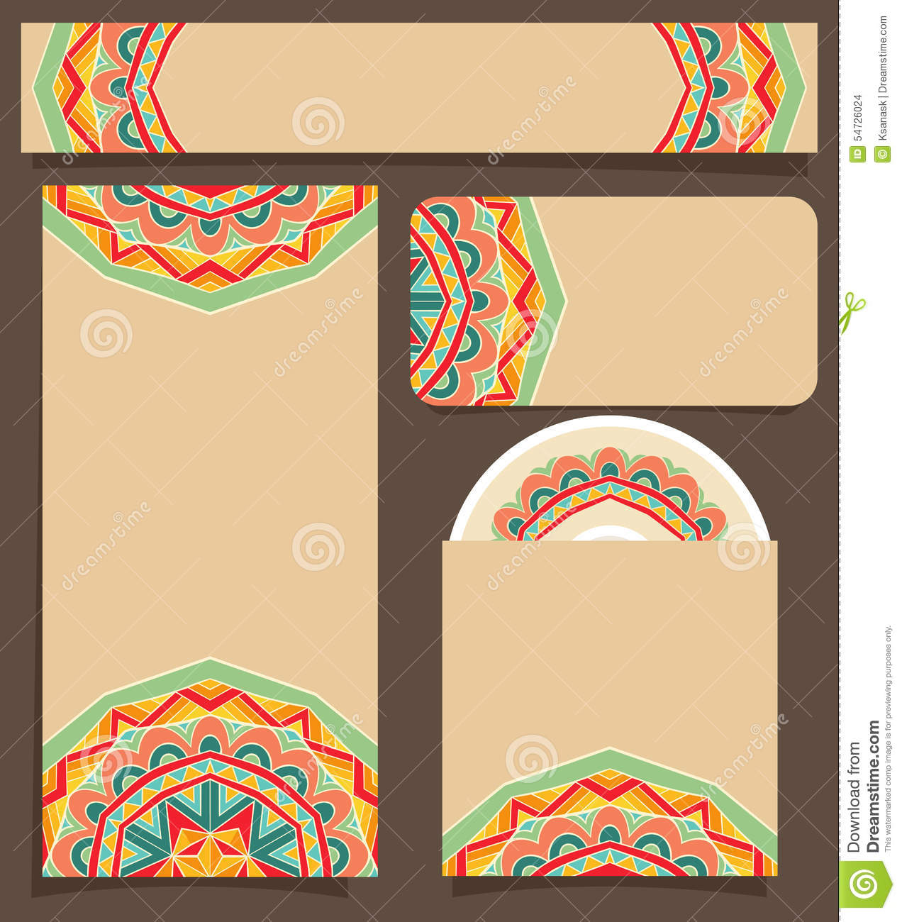 Branding Design With Festive Mexican Pattern Stock Vector ...