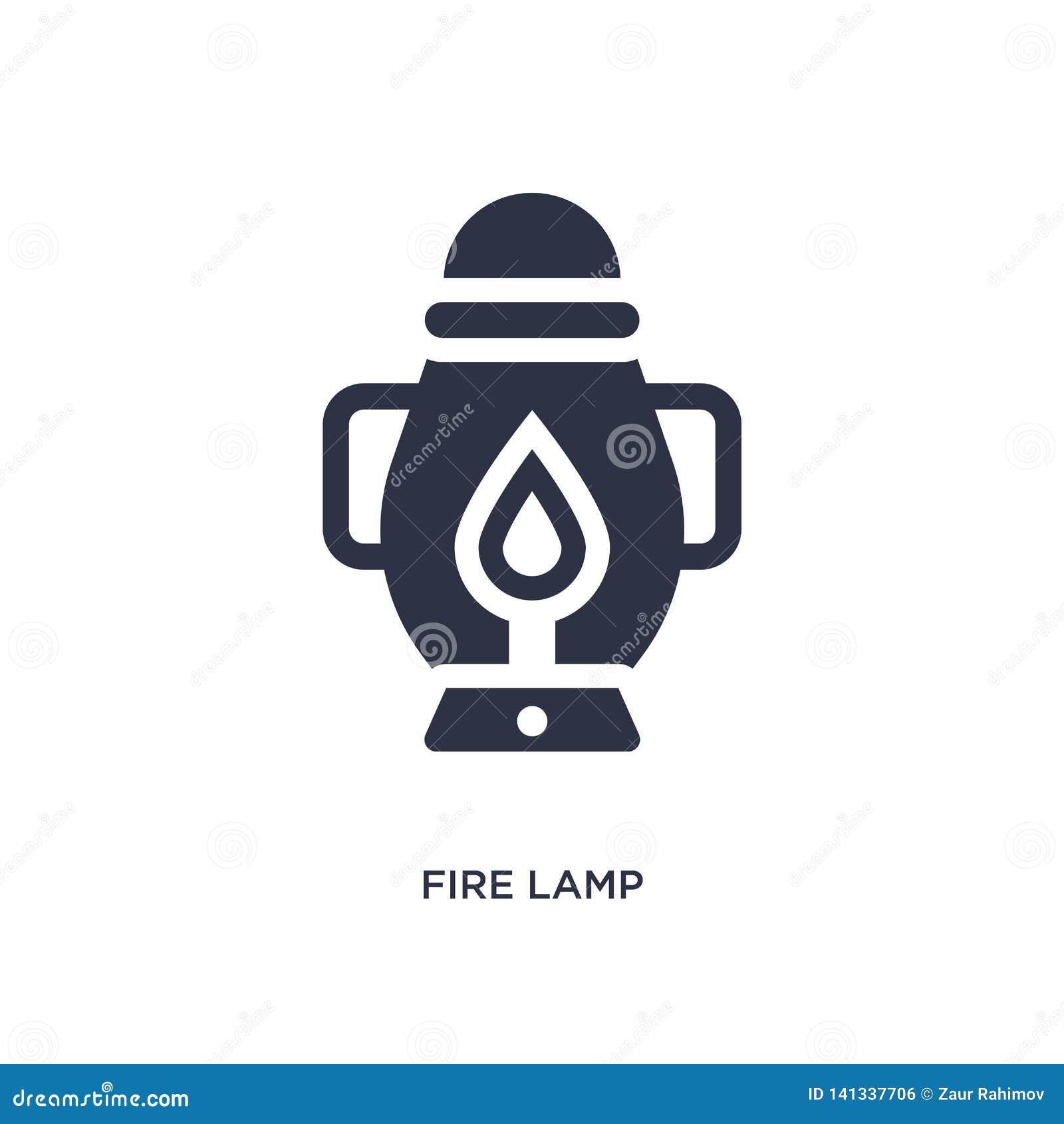 Brandlampsymbol på vit bakgrund Enkel beståndsdelillustration från campa begrepp