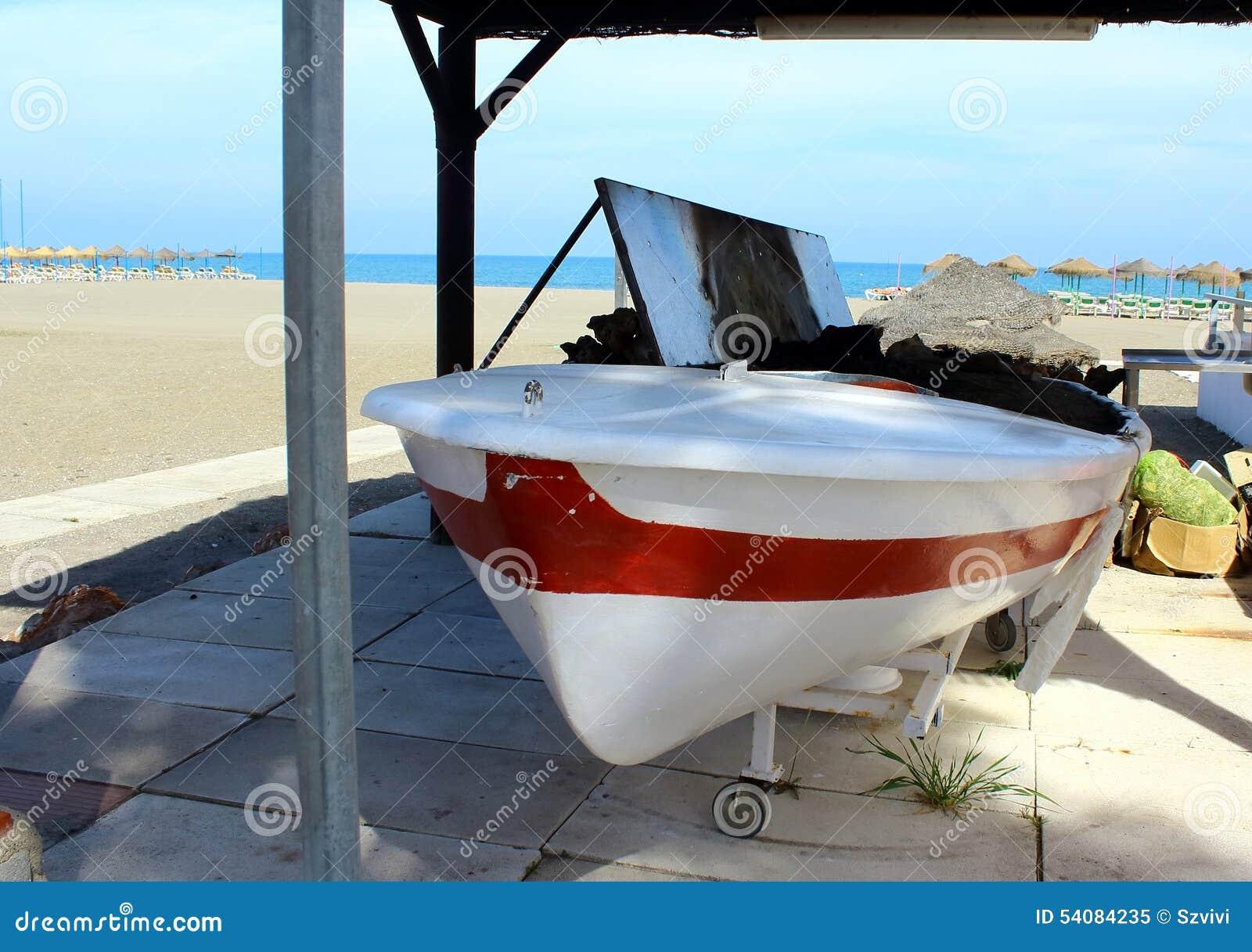 Brandplaats in de boot