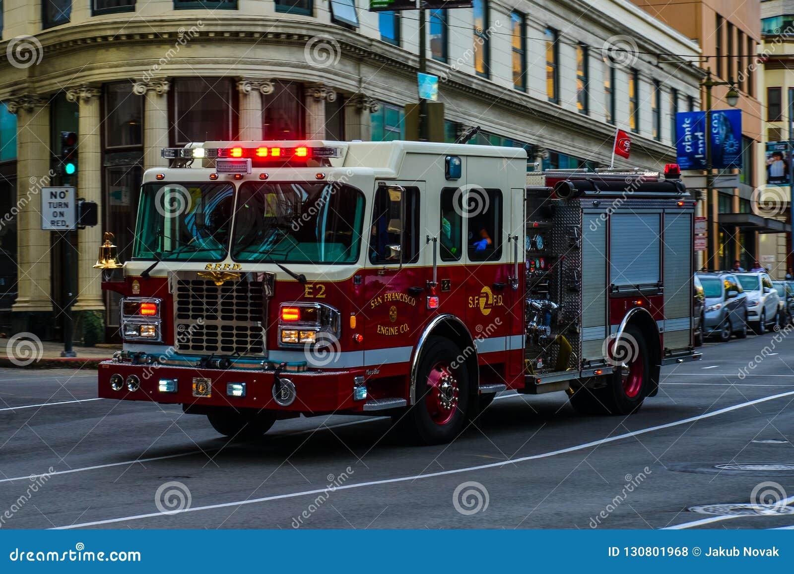 Brandvrachtwagen, de afdeling van San Francisco