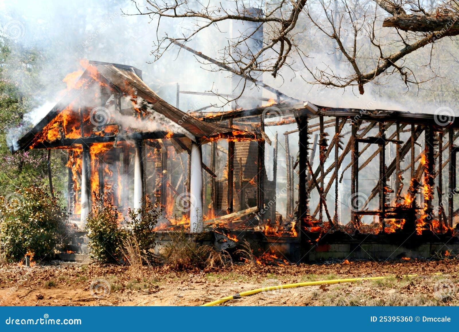 Brandwond onderaan huisbrand