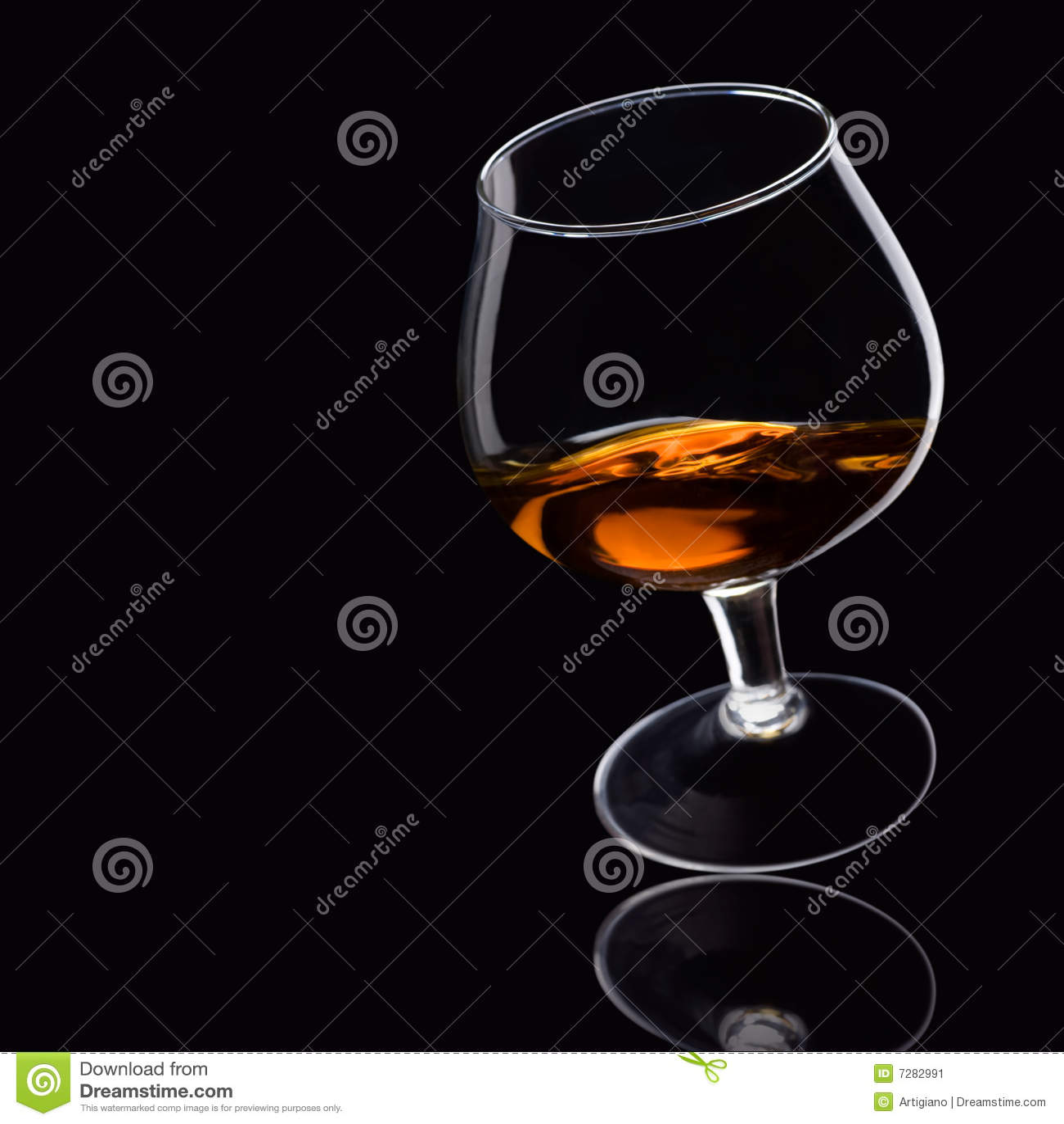 Brandy on black