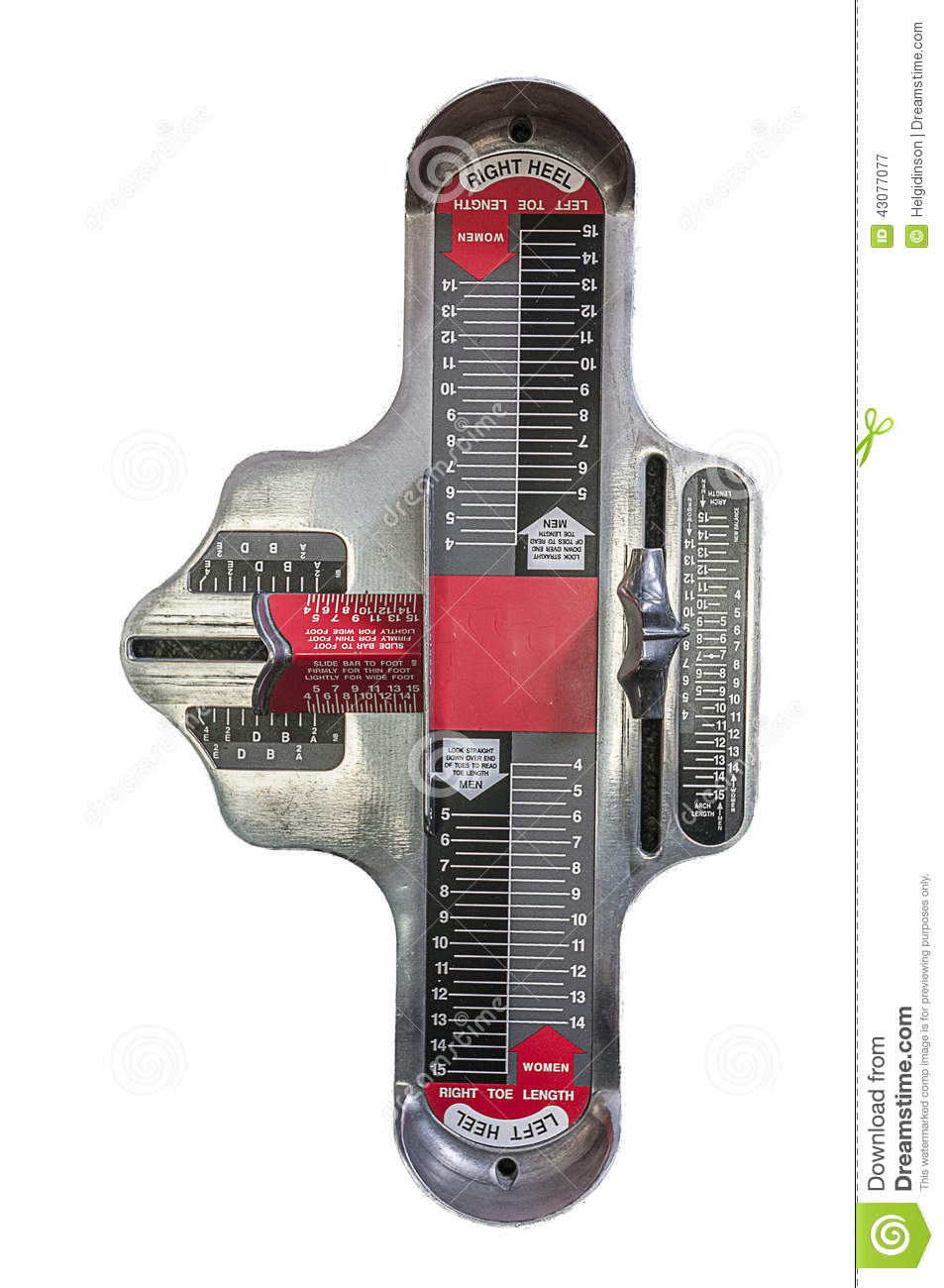 Name Of The Foot Measuring Device : Brannock device stock image of contractor length