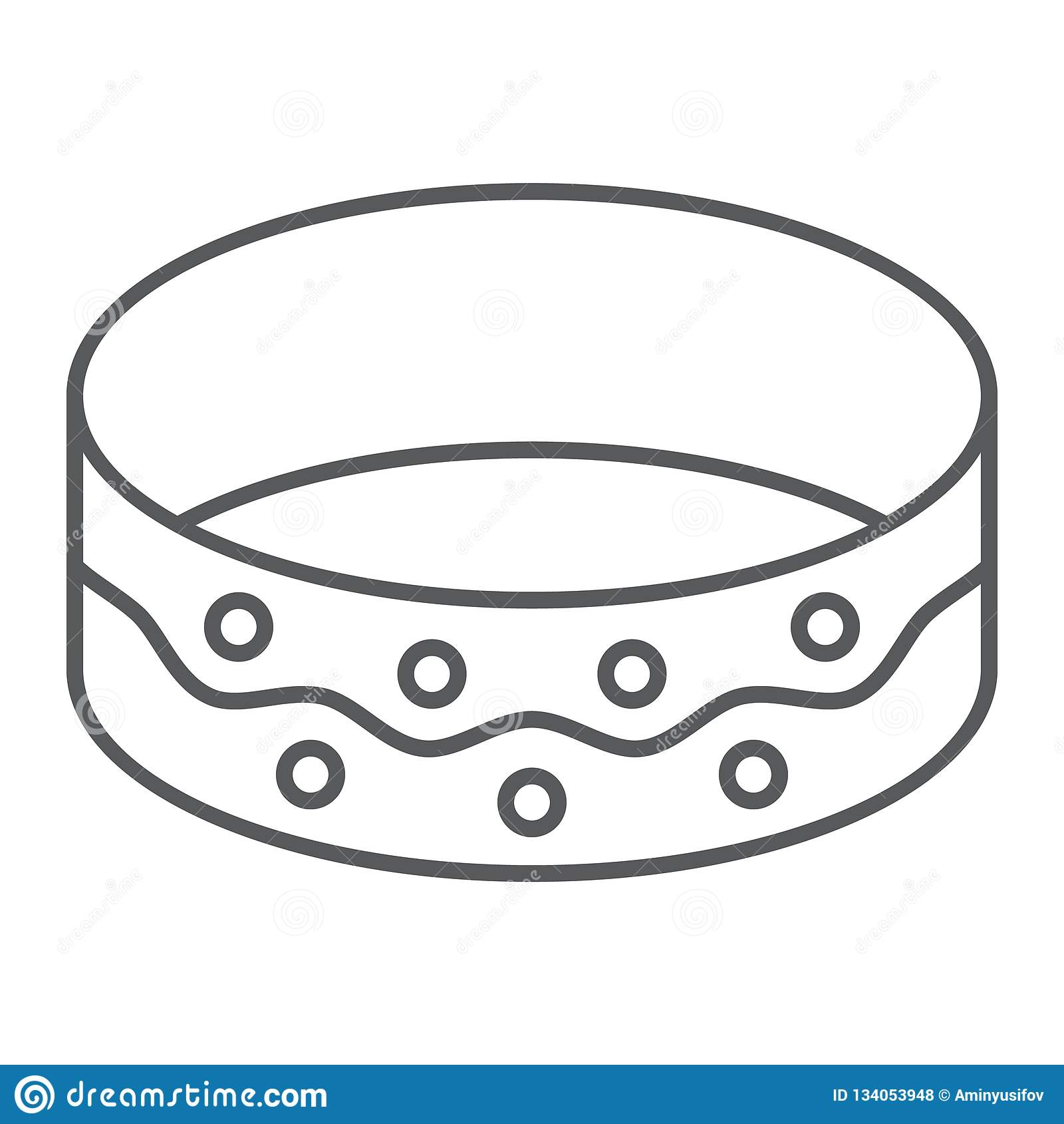 Bransoletki cienka kreskowa ikona, jewellery i akcesorium, bangle znak, wektorowe grafika, liniowy wzór na białym tle