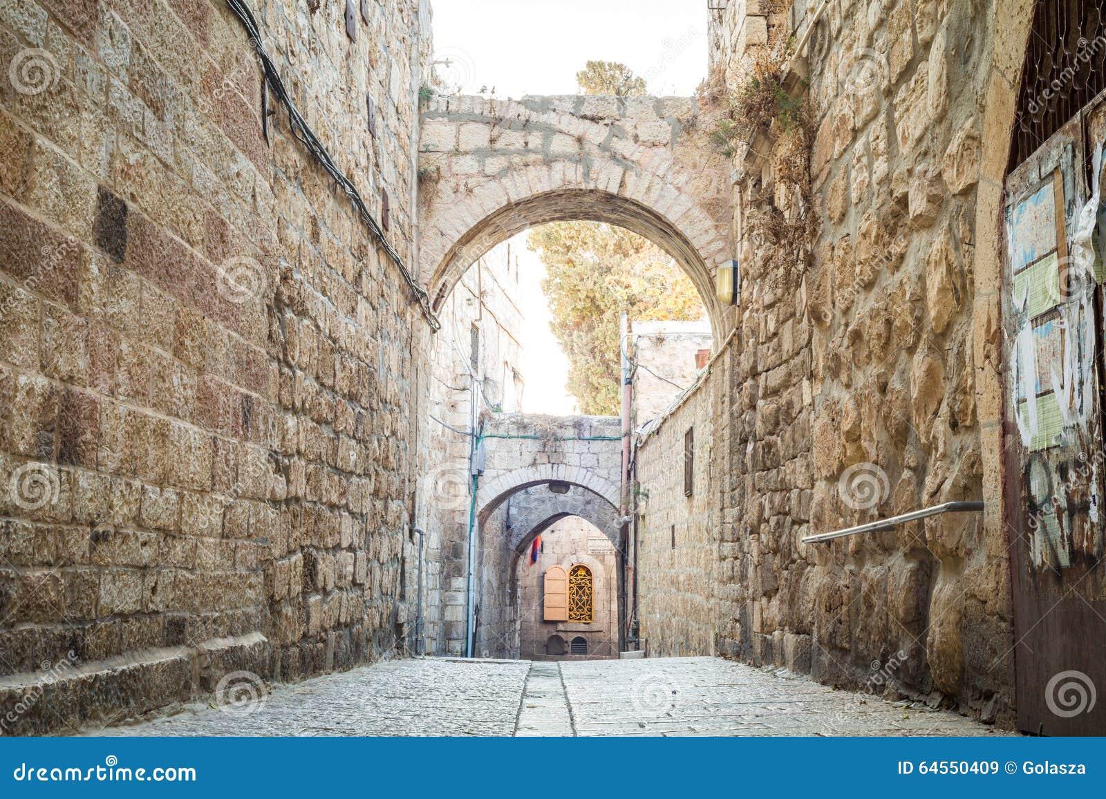 Brant gata av Jerusalem, Israel