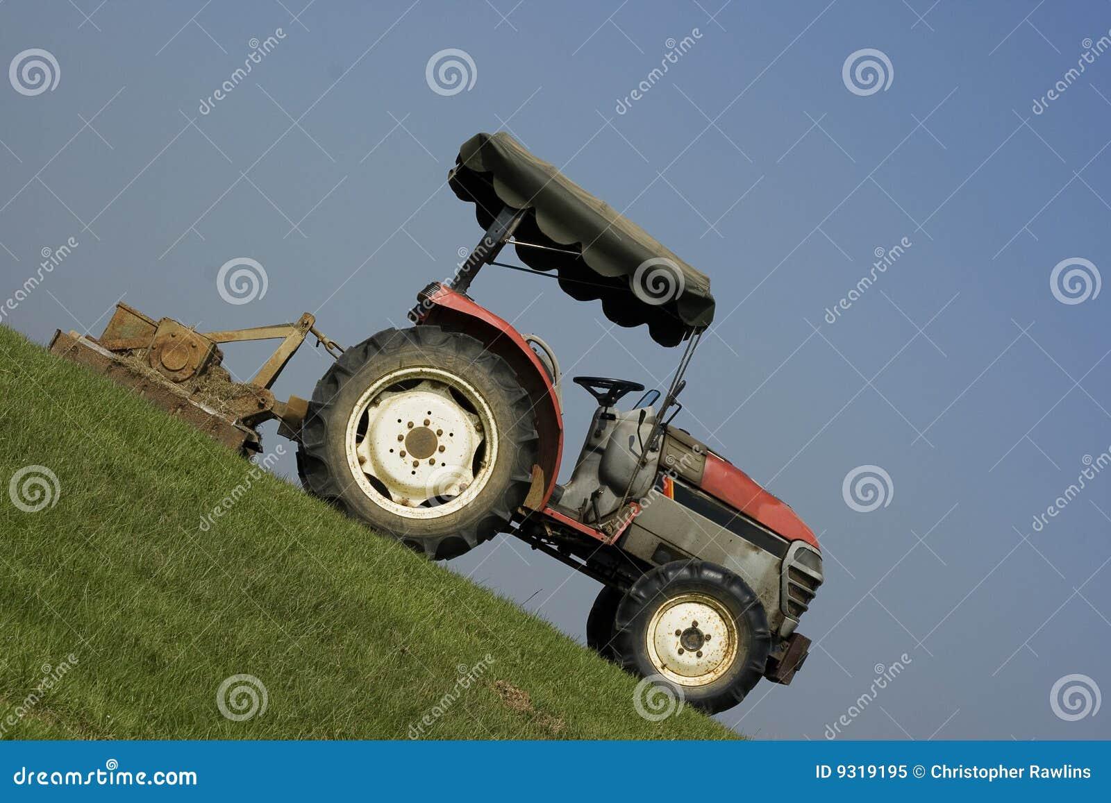 Brant traktor för lutning