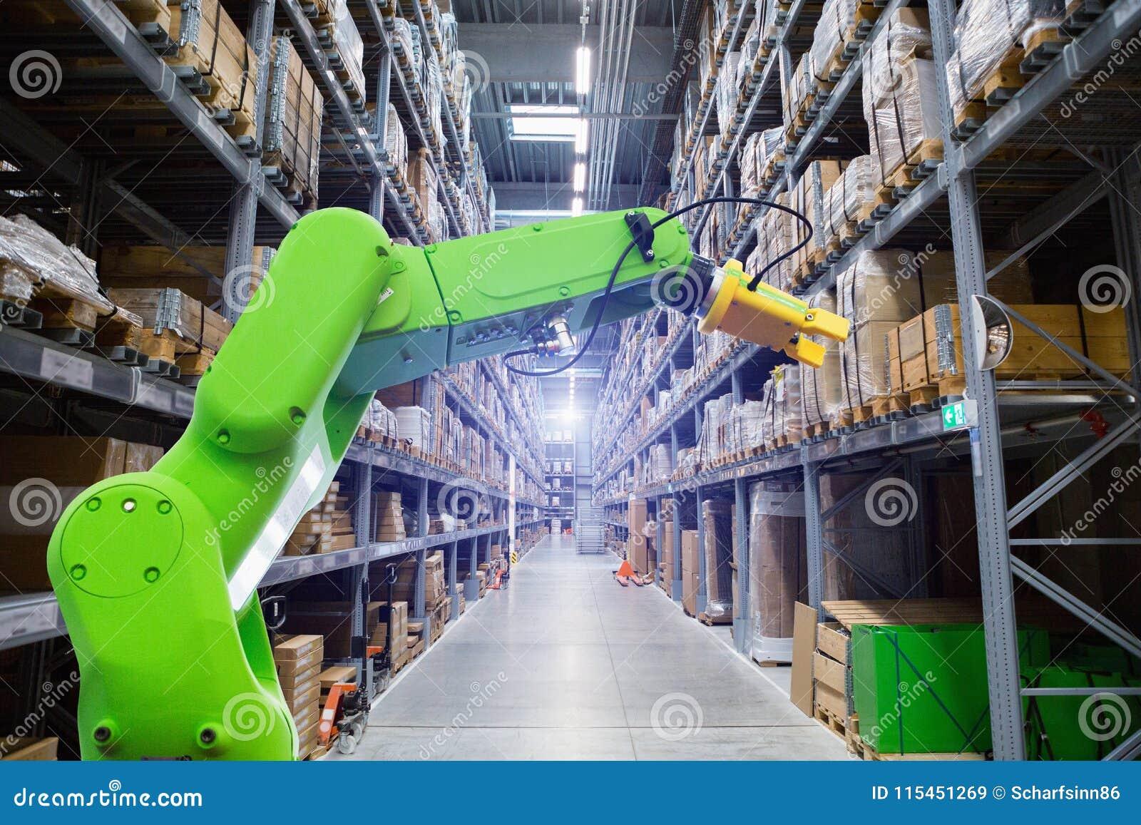 Bras de Roboric dans l entrepôt