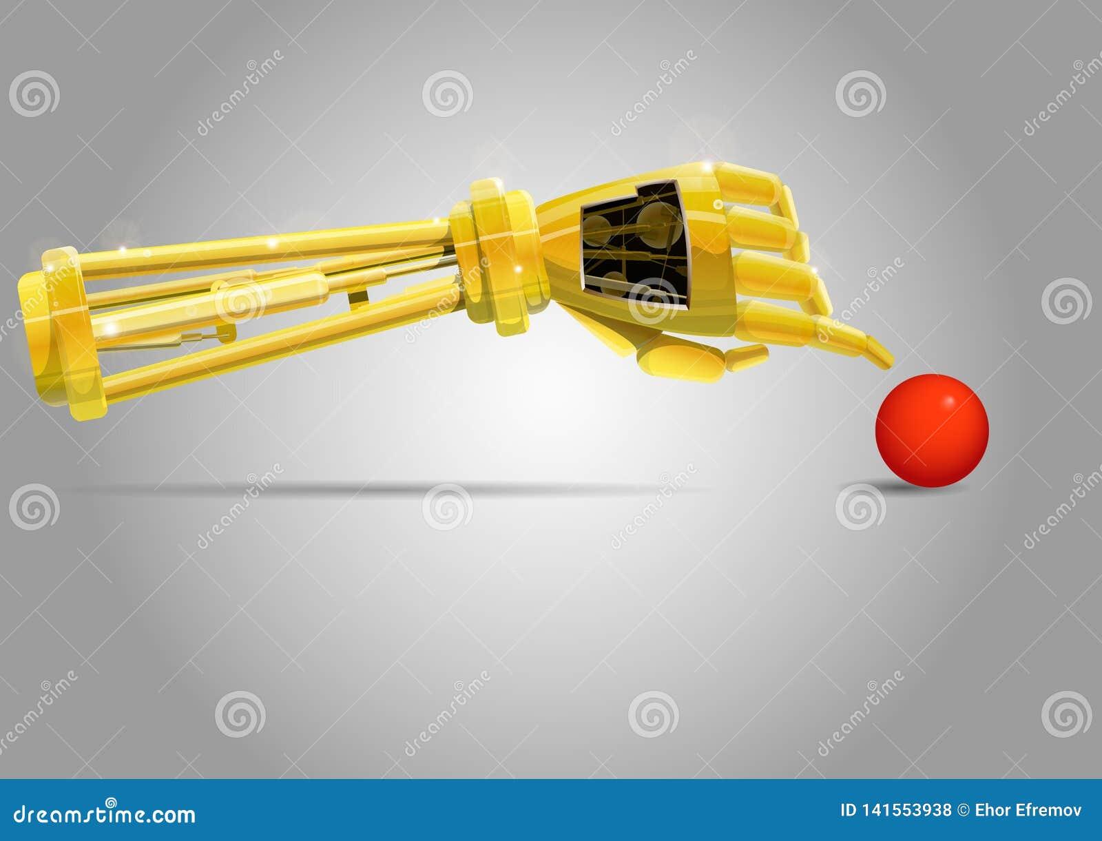 Bras de robot avec la boule