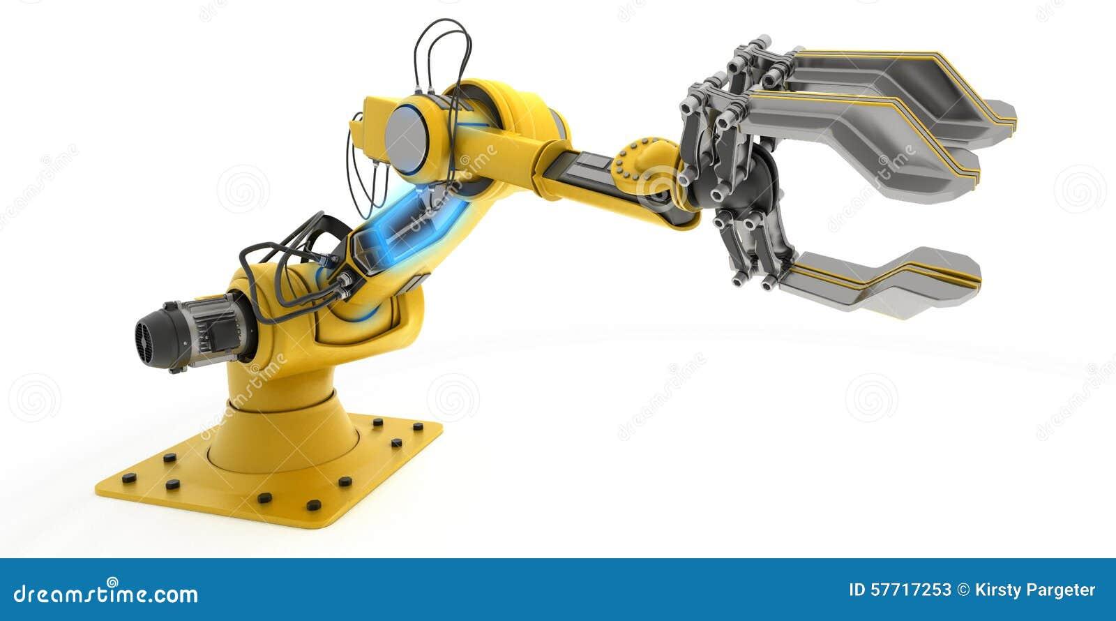 Populaire Bras de robot industriel illustration stock. Image du mécanicien  GJ69