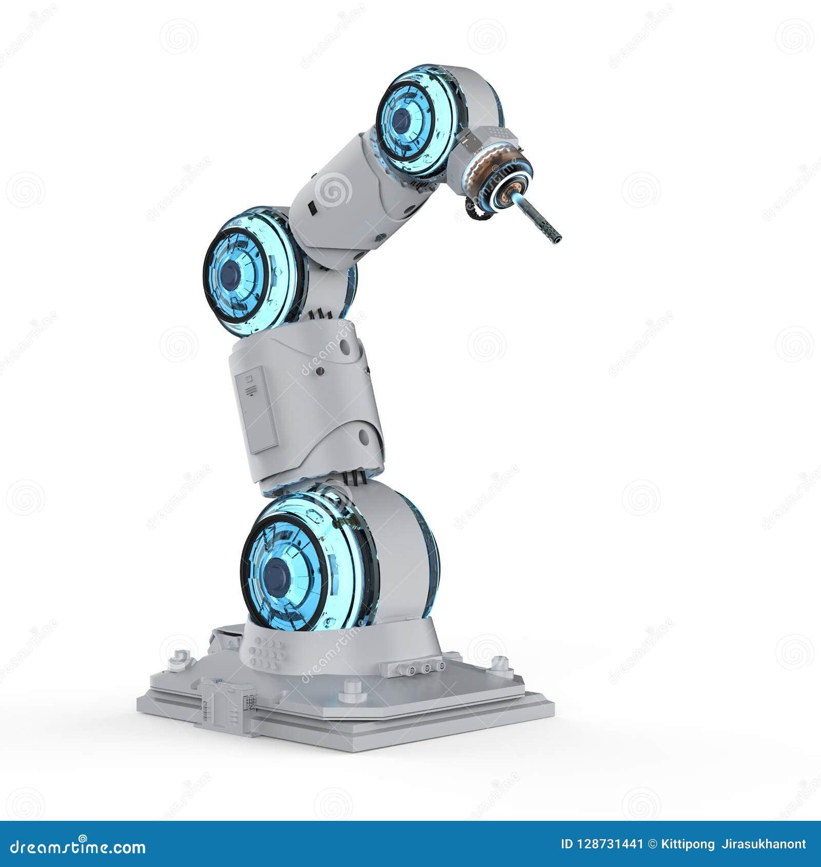 Bras robotique de soudeuse