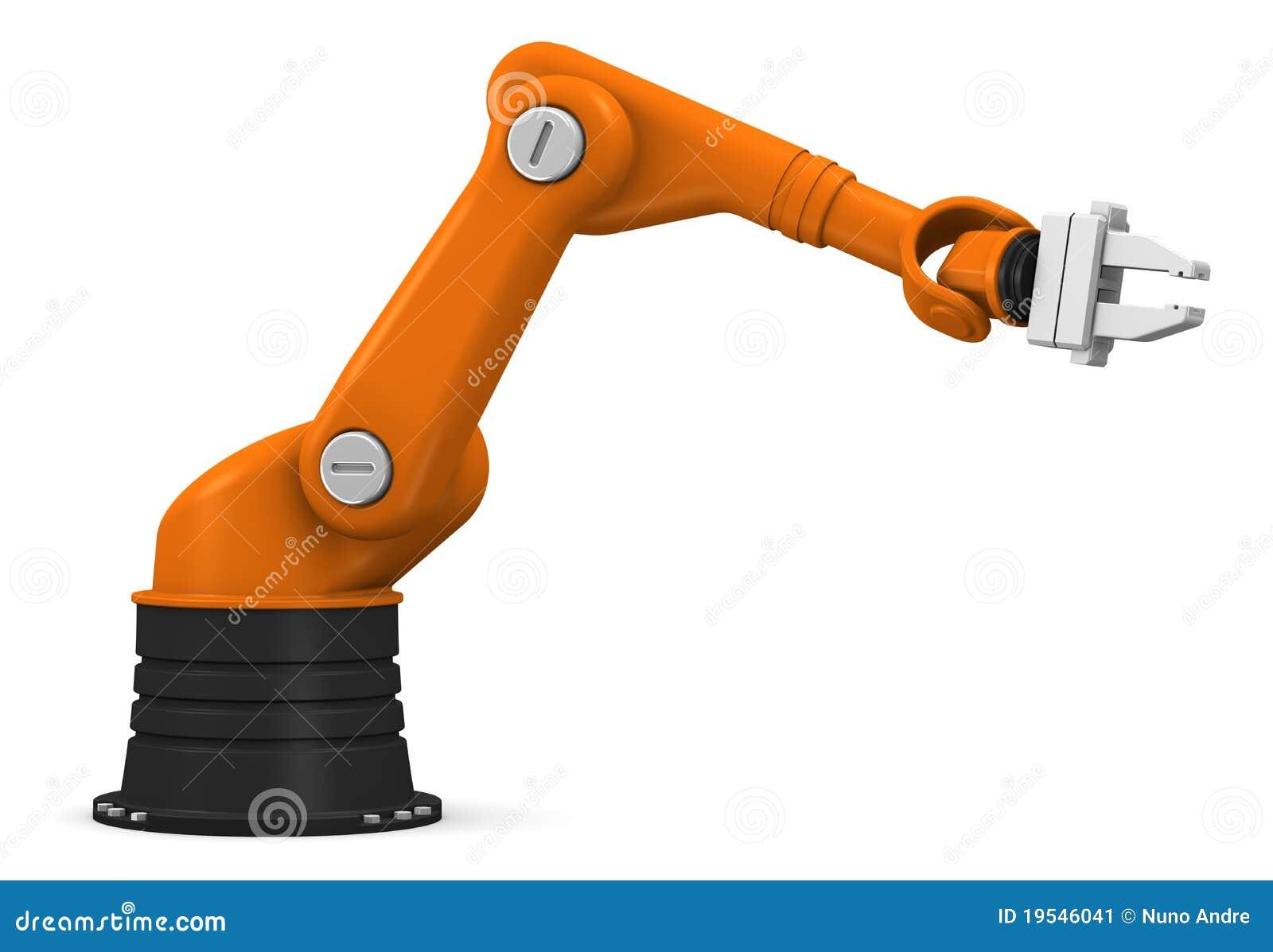 Souvent Bras Robotique Industriel Image stock - Image: 19546041 VX47