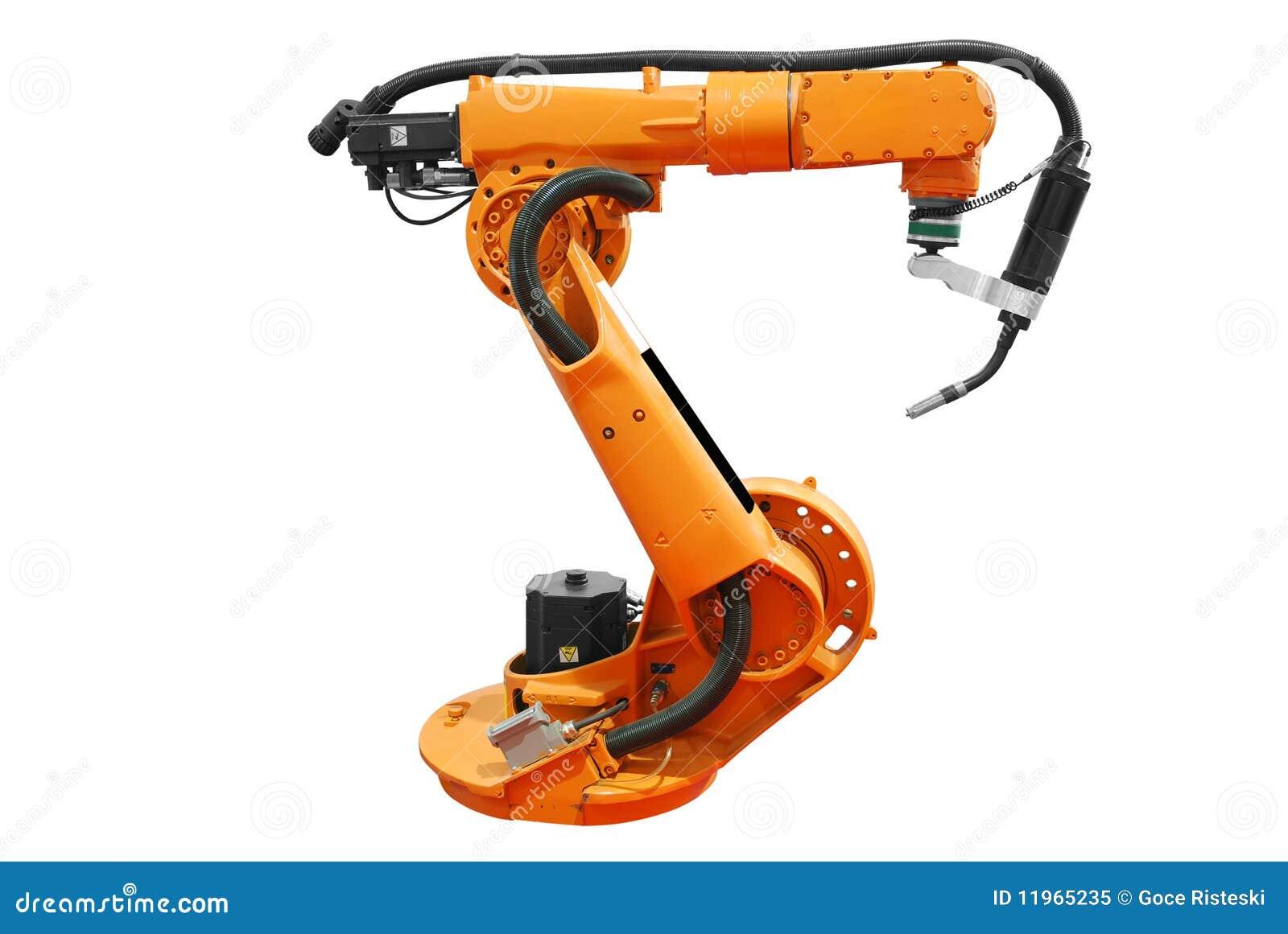 Souvent Bras Robotique Industriel D'isolement Photo libre de droits  VX47