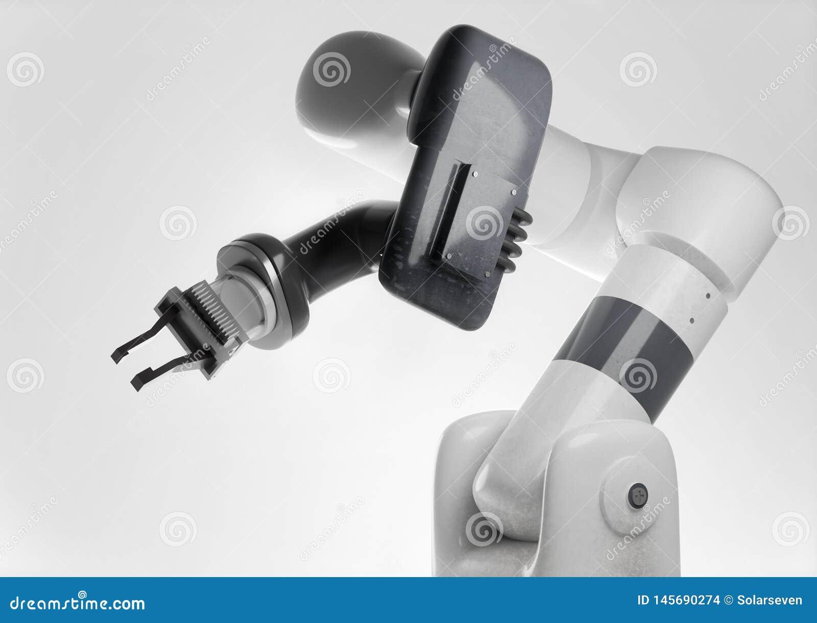 Bras robotique moderne pour les produits de fabrication