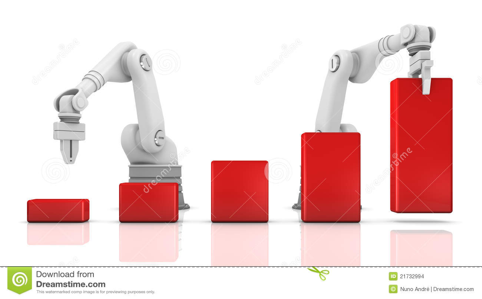 Bras robotiques industriels établissant le diagramme