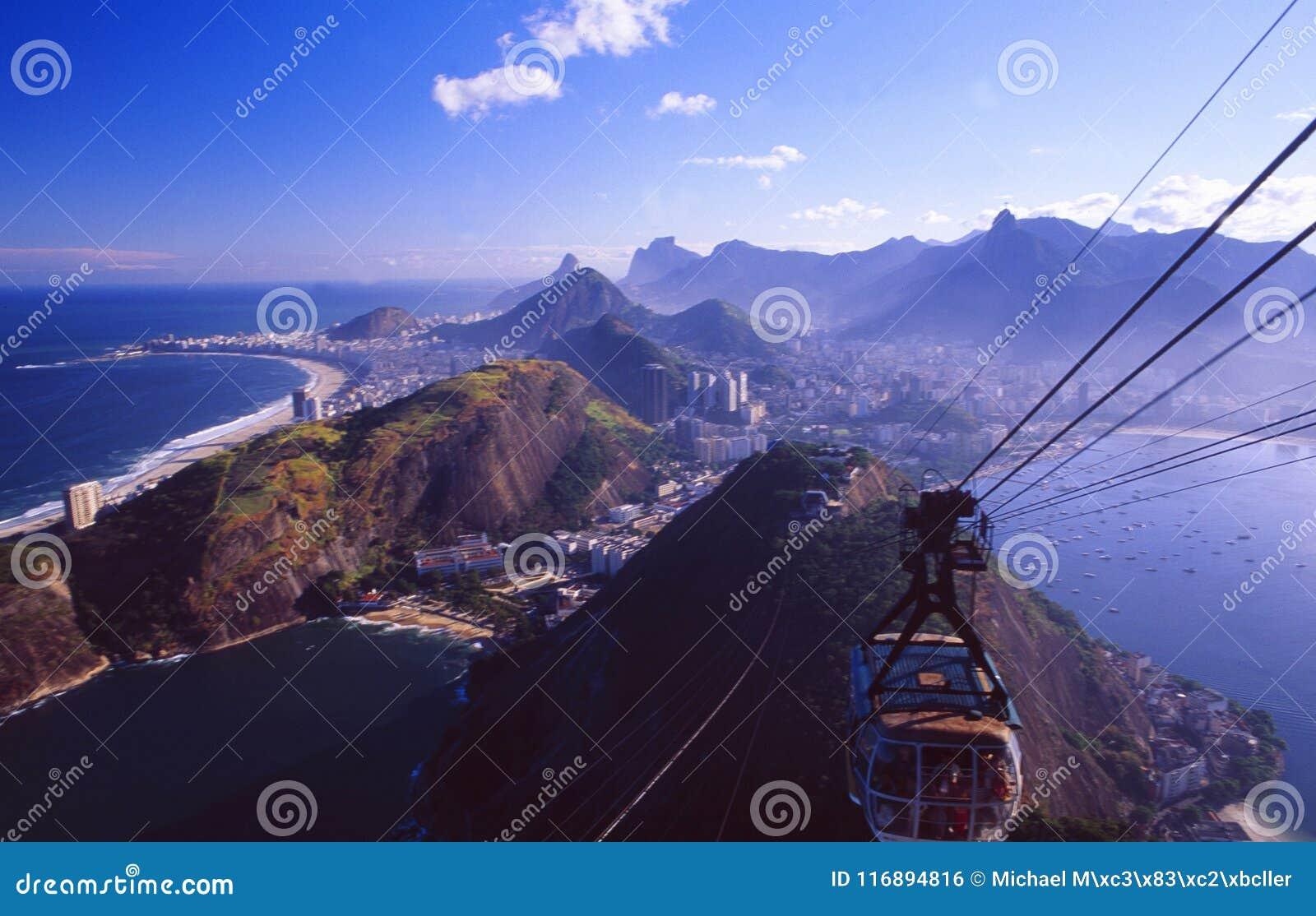Brasil: Skyline do ` s do Rio de Sugar Hill