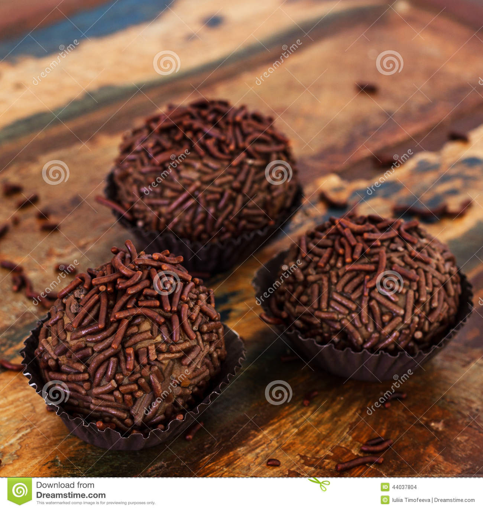 Brasilianisches Schokoladentrüffel-Bonbon brigadeiro