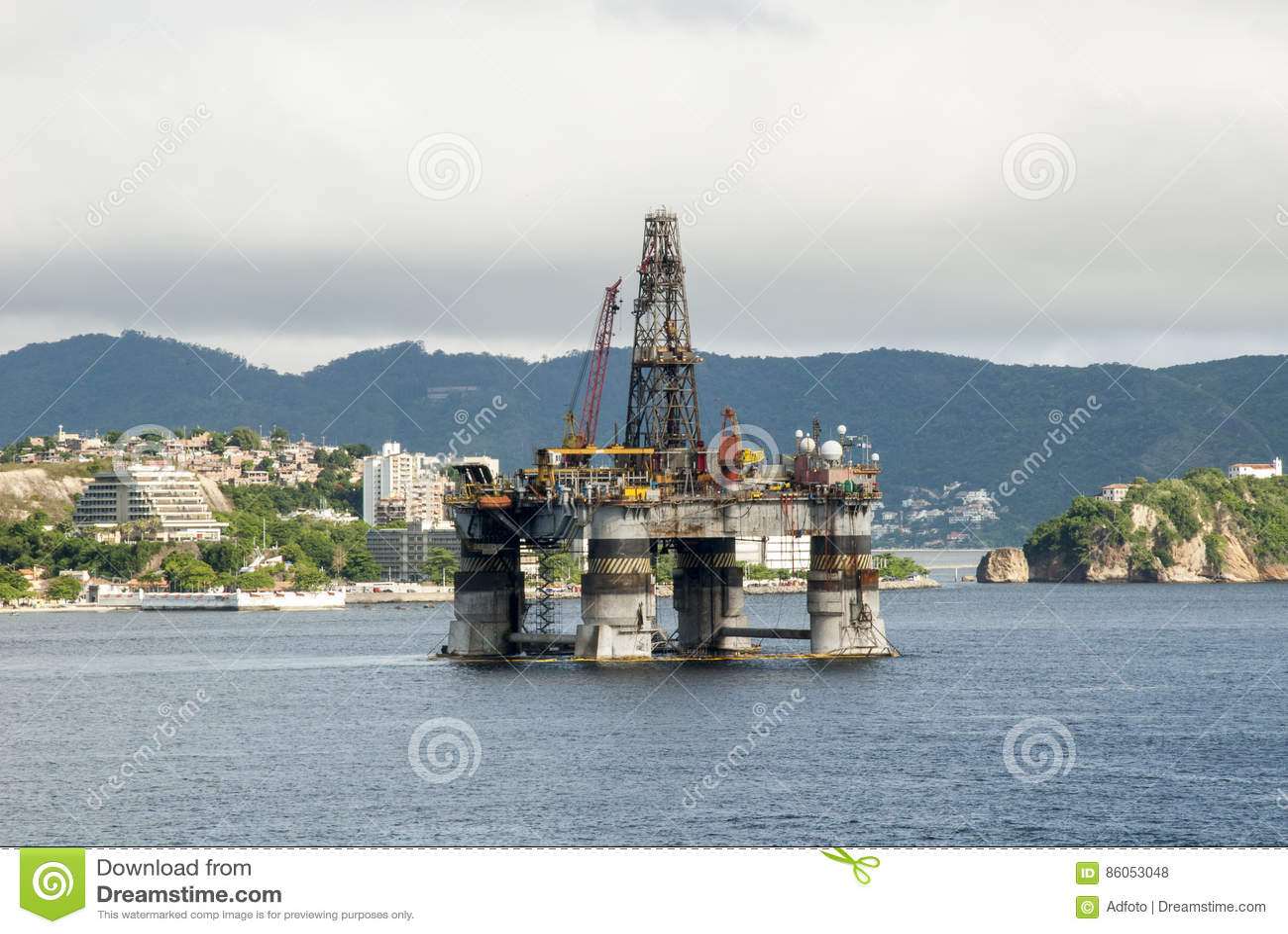 Brasilien - olje- Rig In Guanabara Bay - Rio de Janeiro