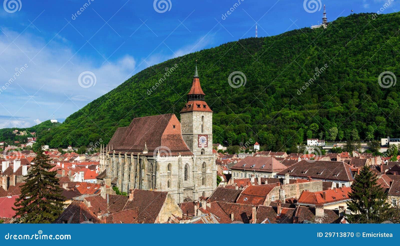 Гора черной церков и Тампа, Brasov, Румыния
