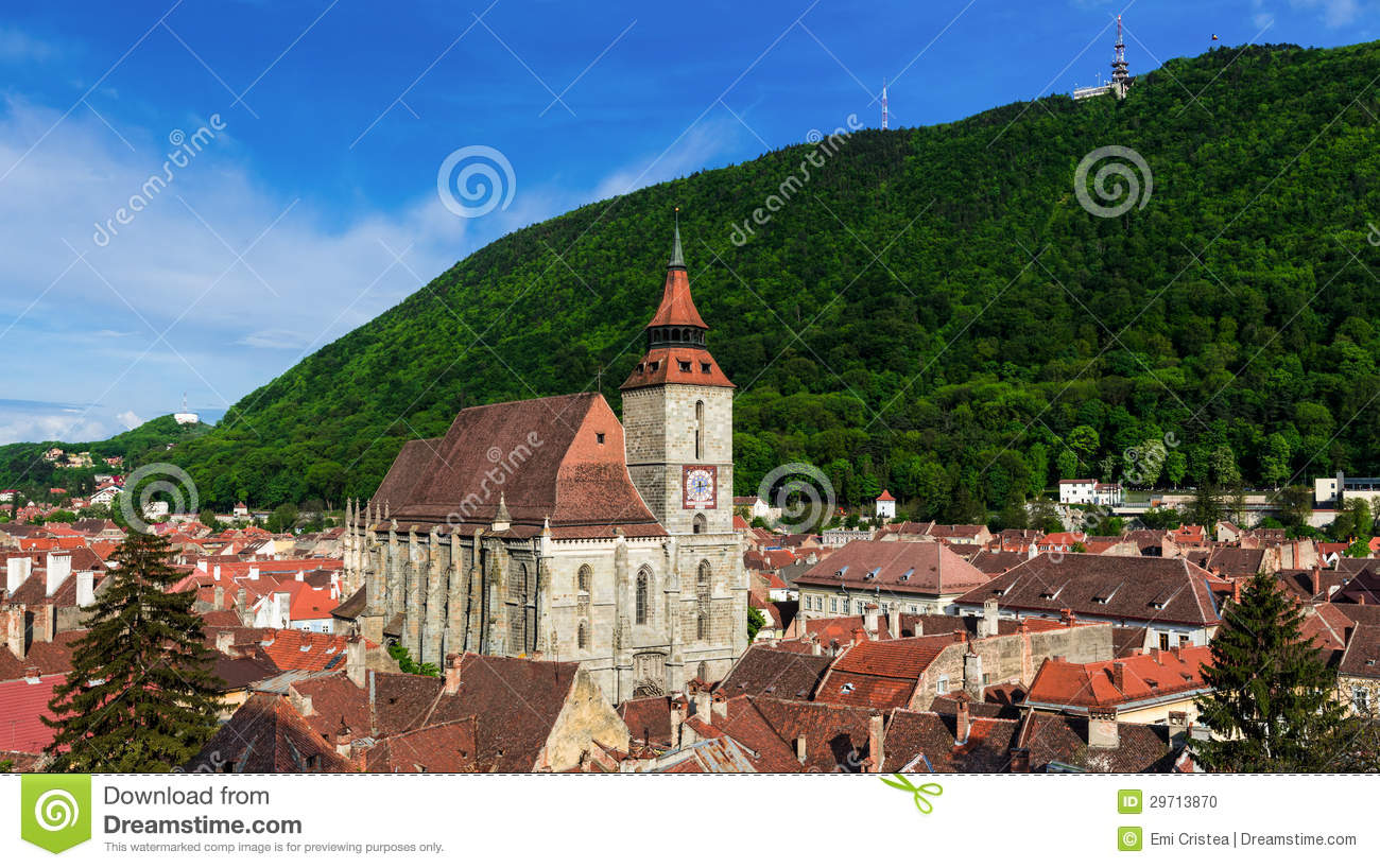 Black Church and Tampa mountain, Brasov, Romania