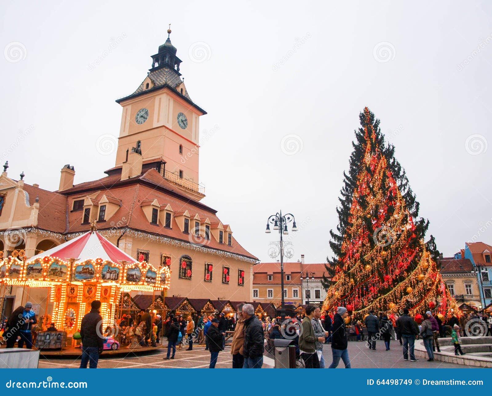 Brasov, Transylvania, Romania, At Christmas Editorial Stock Image ...