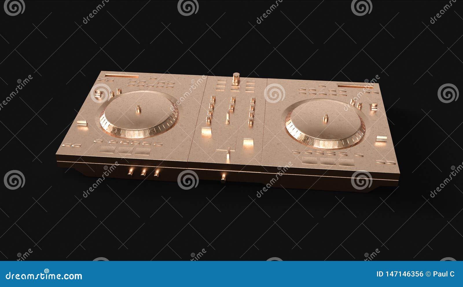 Brass Boombox StereoBrass Cassette TapeBrass DJ Decks
