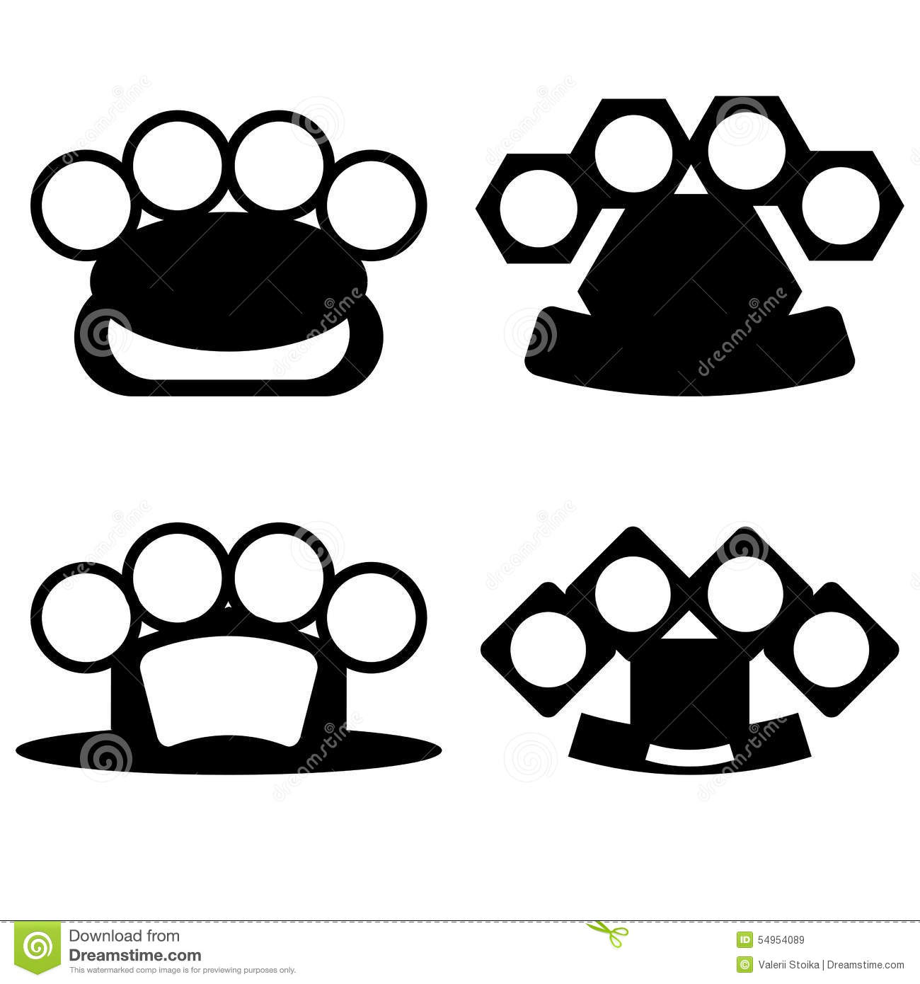 Brass knuckle stock illustration illustration of criminal for Brass knuckles template