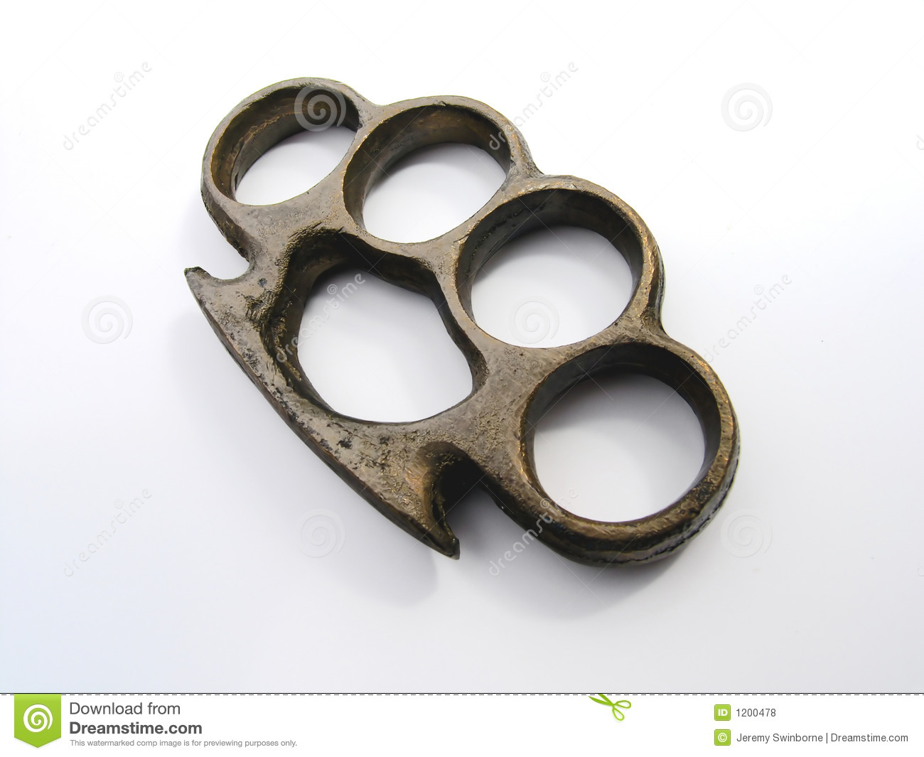 Brass Knuckles stock photo. Image of brass, fighting ...