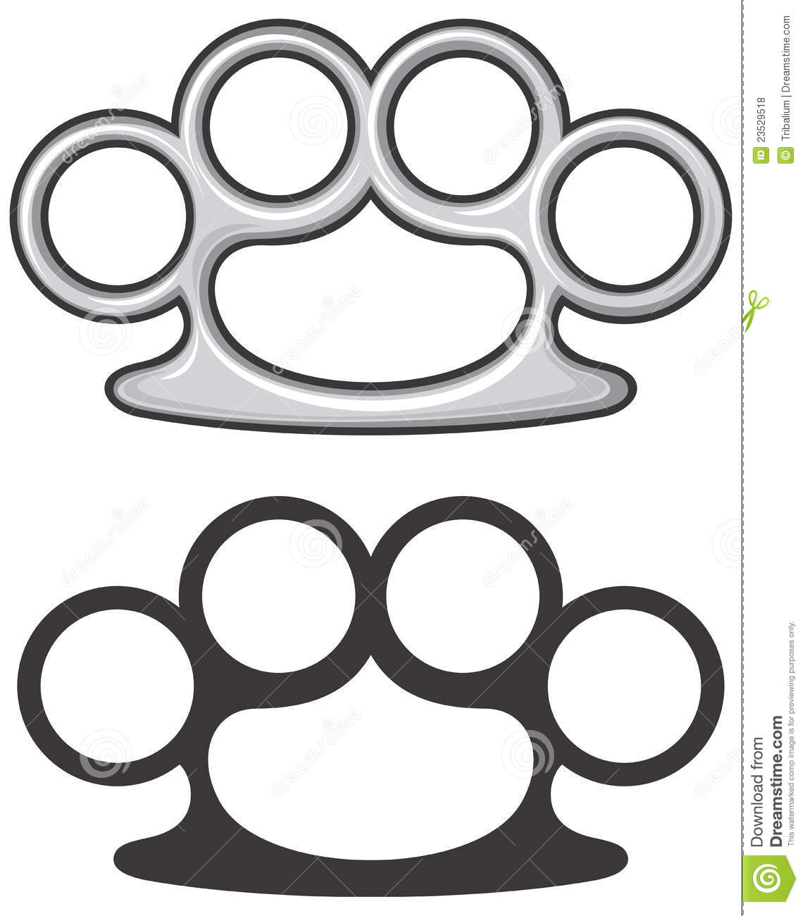 brass knuckles royalty free stock photos image 23529518