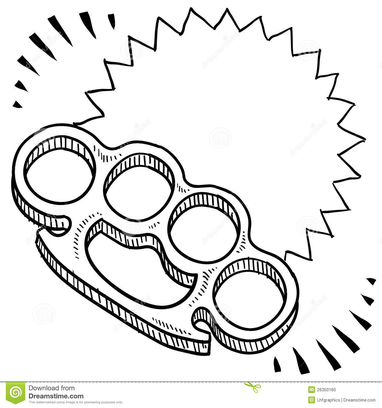 Brass knuckles sketch stock photo image 26350160 for Brass knuckles template