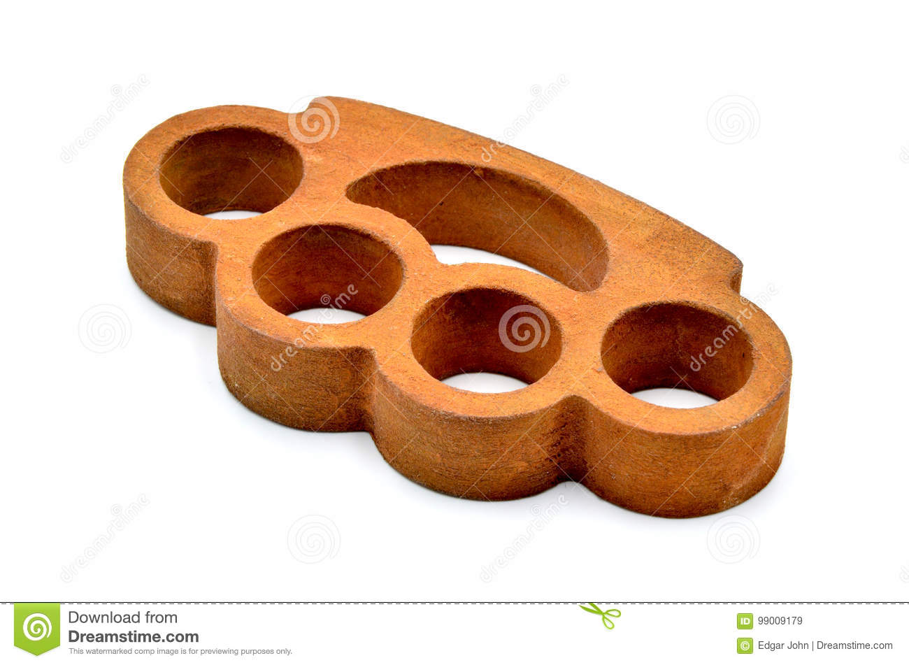 Brass Knuckles On A White Background Stock Image Image Of