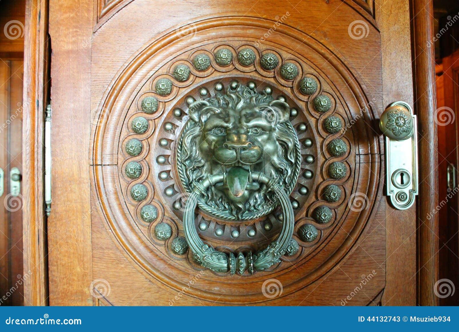 Brass lion head door knocker indoor editorial stock photo image 44132743 - Large lion head door knocker ...