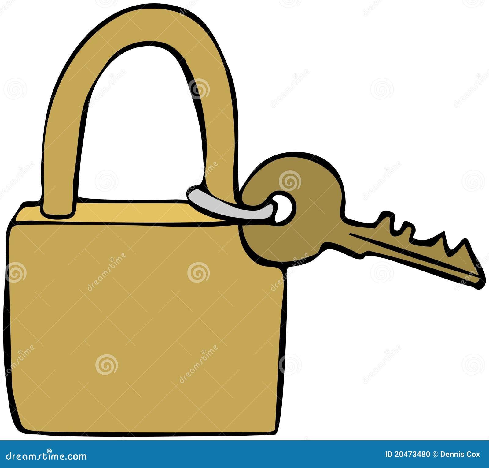 Brass Lock Amp Key Stock Photo Image 20473480