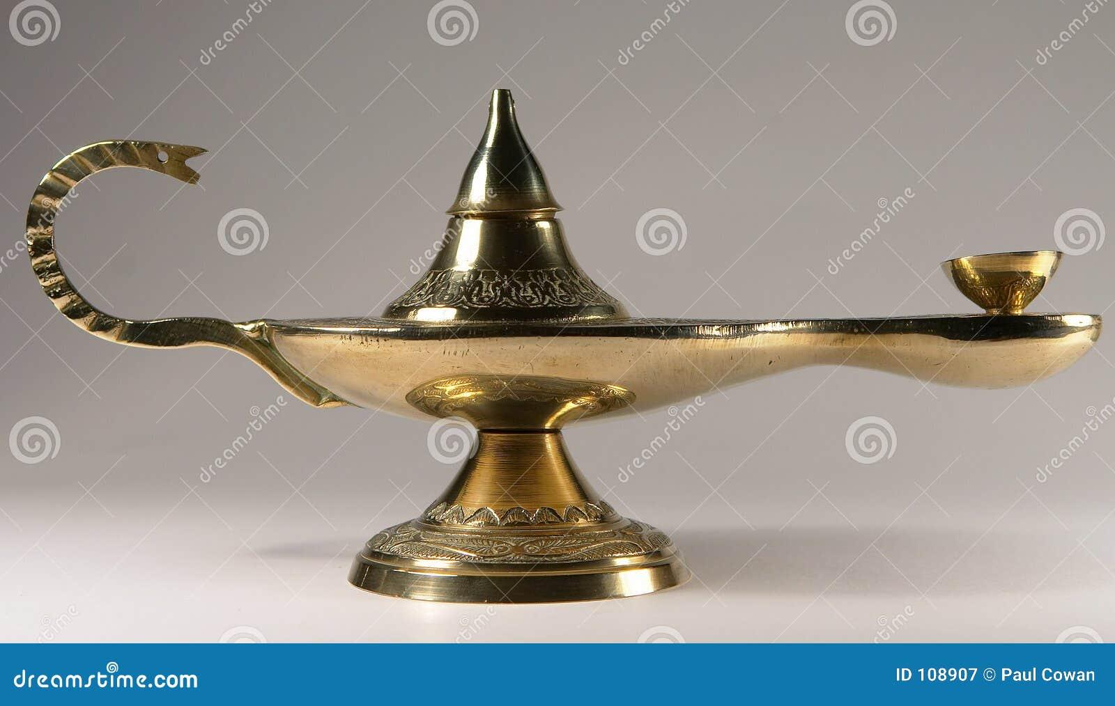 Brass Oil Lamp Stock Image Image Of Aladdin Lamp Asian
