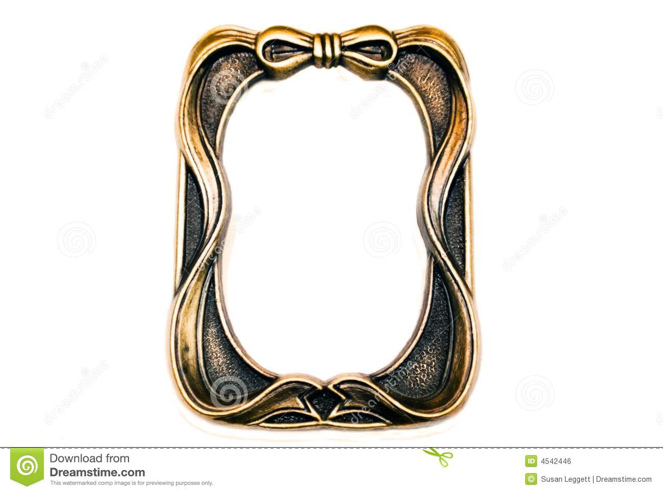 Brass Picture Frame With Bow