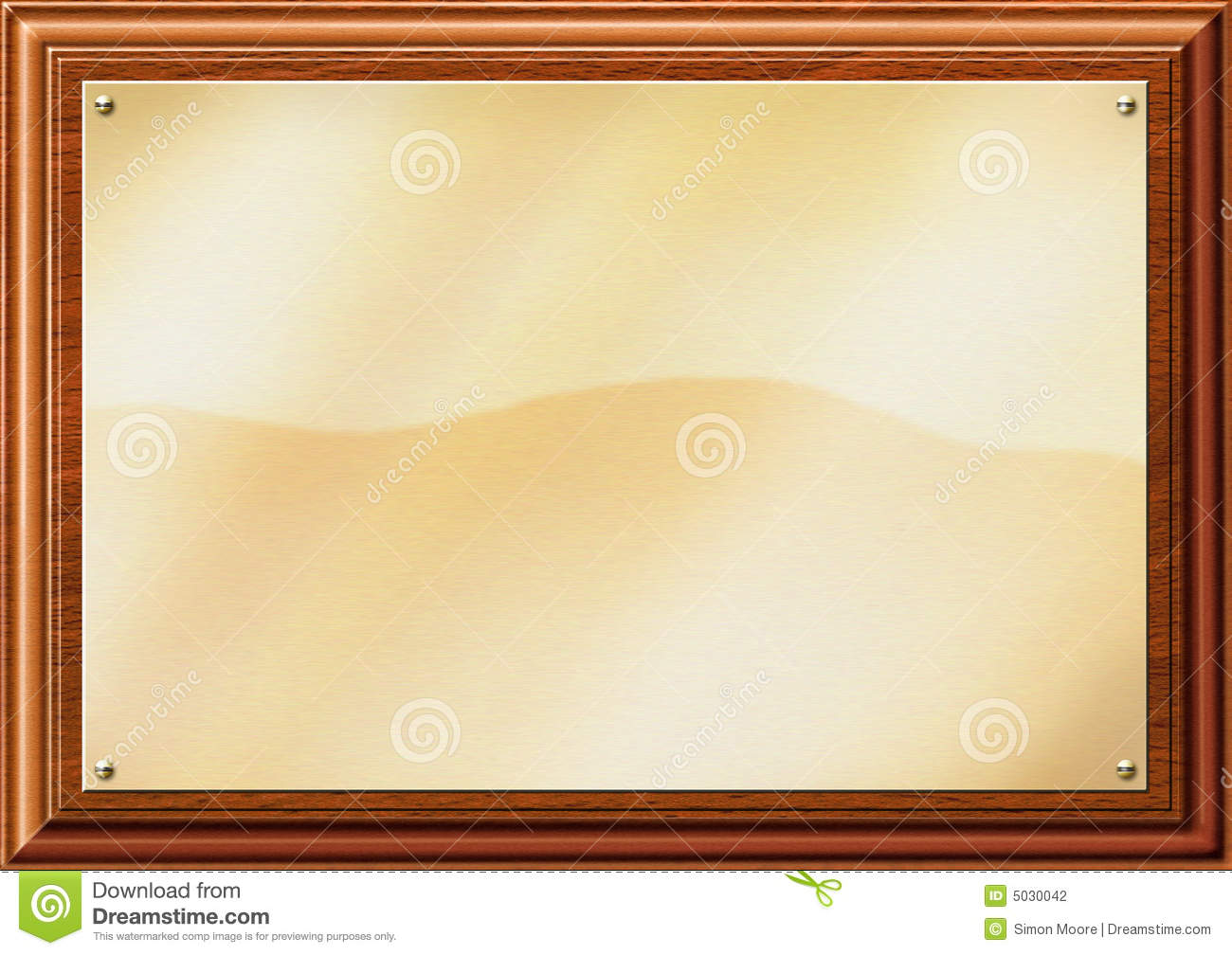Brass Plaque Illustration Stock Photography - Image: 5030042