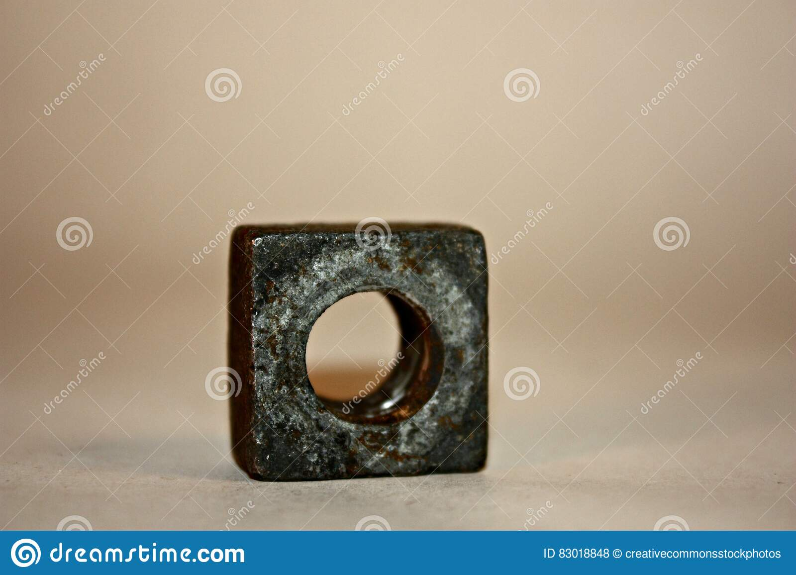 Download Brass Square Ring stock photo. Image of stock, circle - 83018848