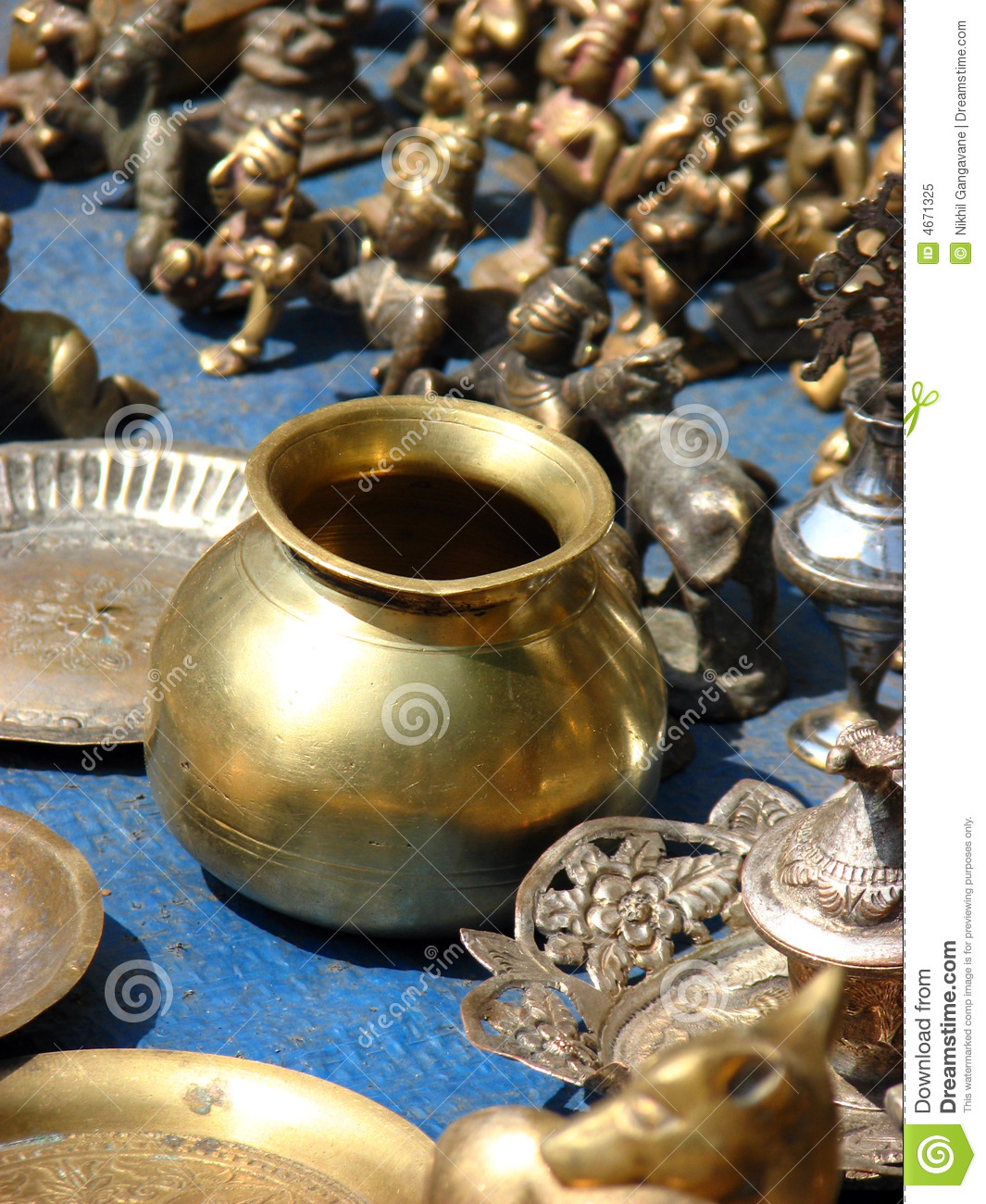 Brass Vessel stock image  Image of unique, india, indian - 4671325