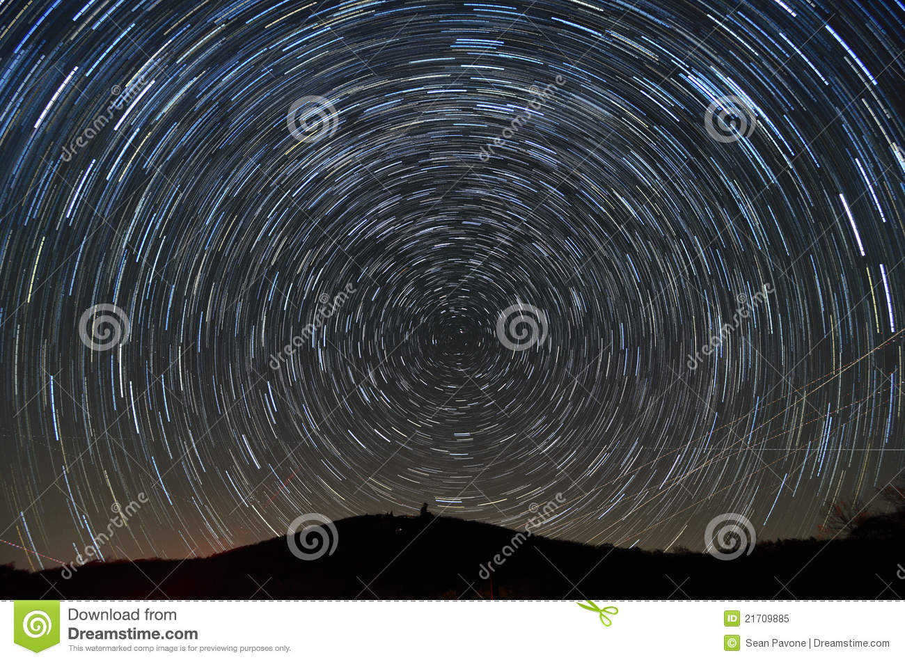 Star trails above Brasstown Bald, the highest elevation in the state ...