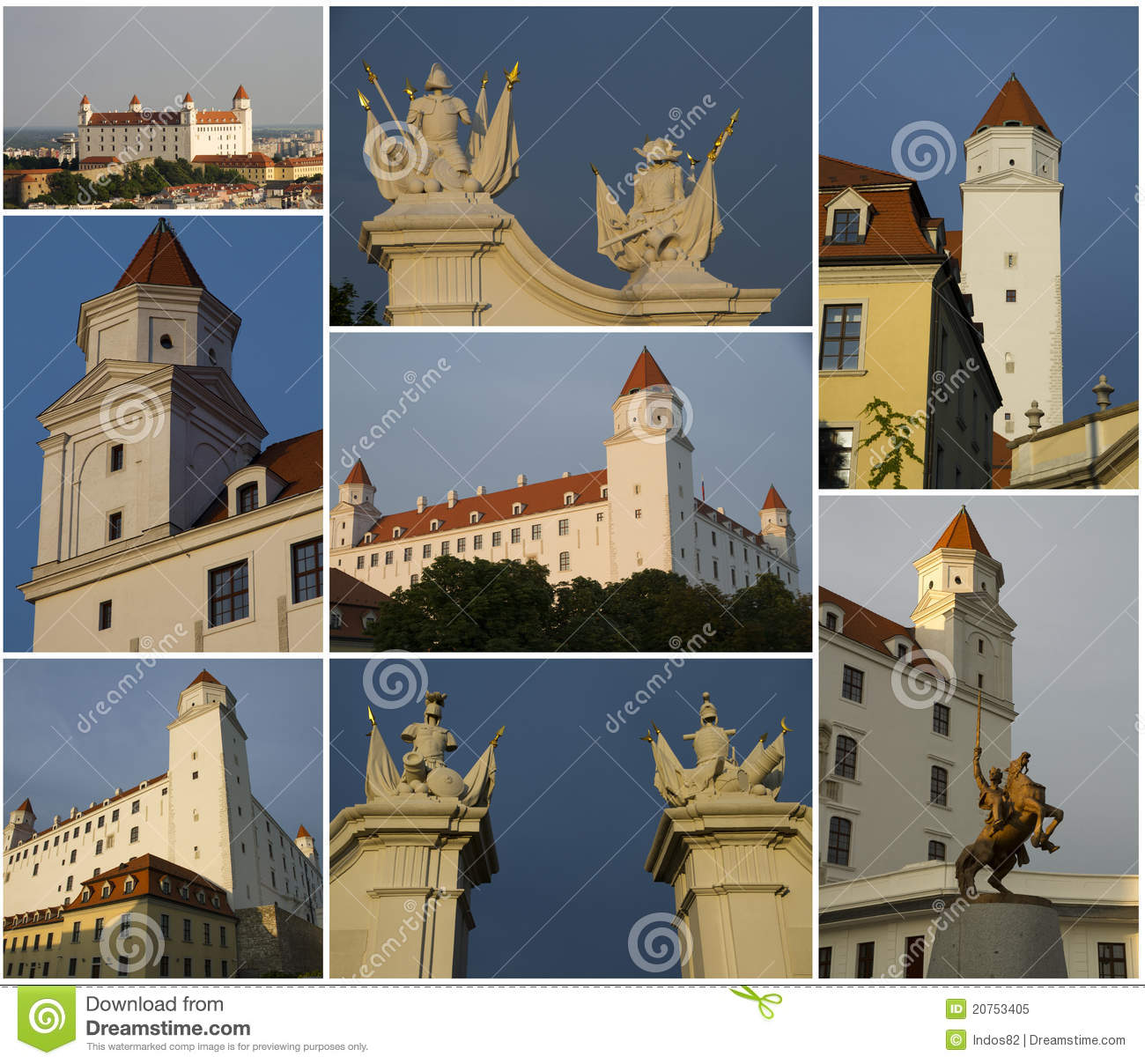 Bratislava castle collage royalty free stock photo image 20753405 - Gloriette fer smeden ...