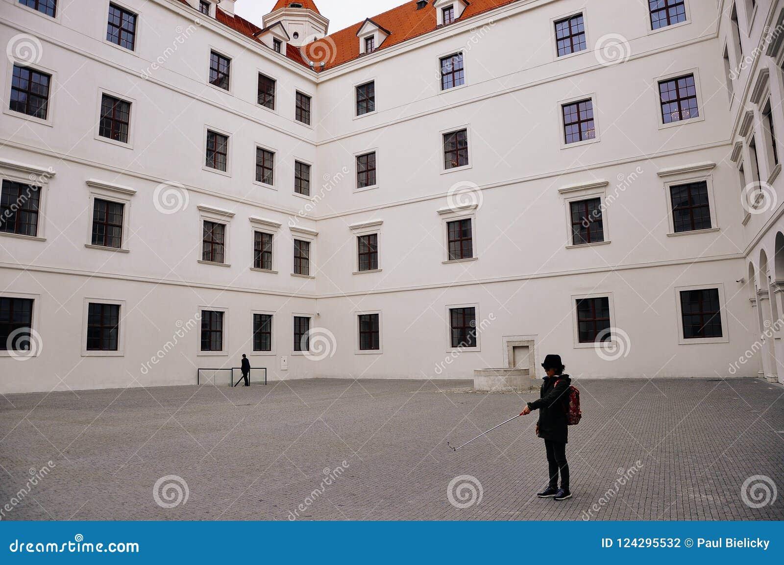 A inside view of Bratislava Castle, Bratislava, Slovakia.