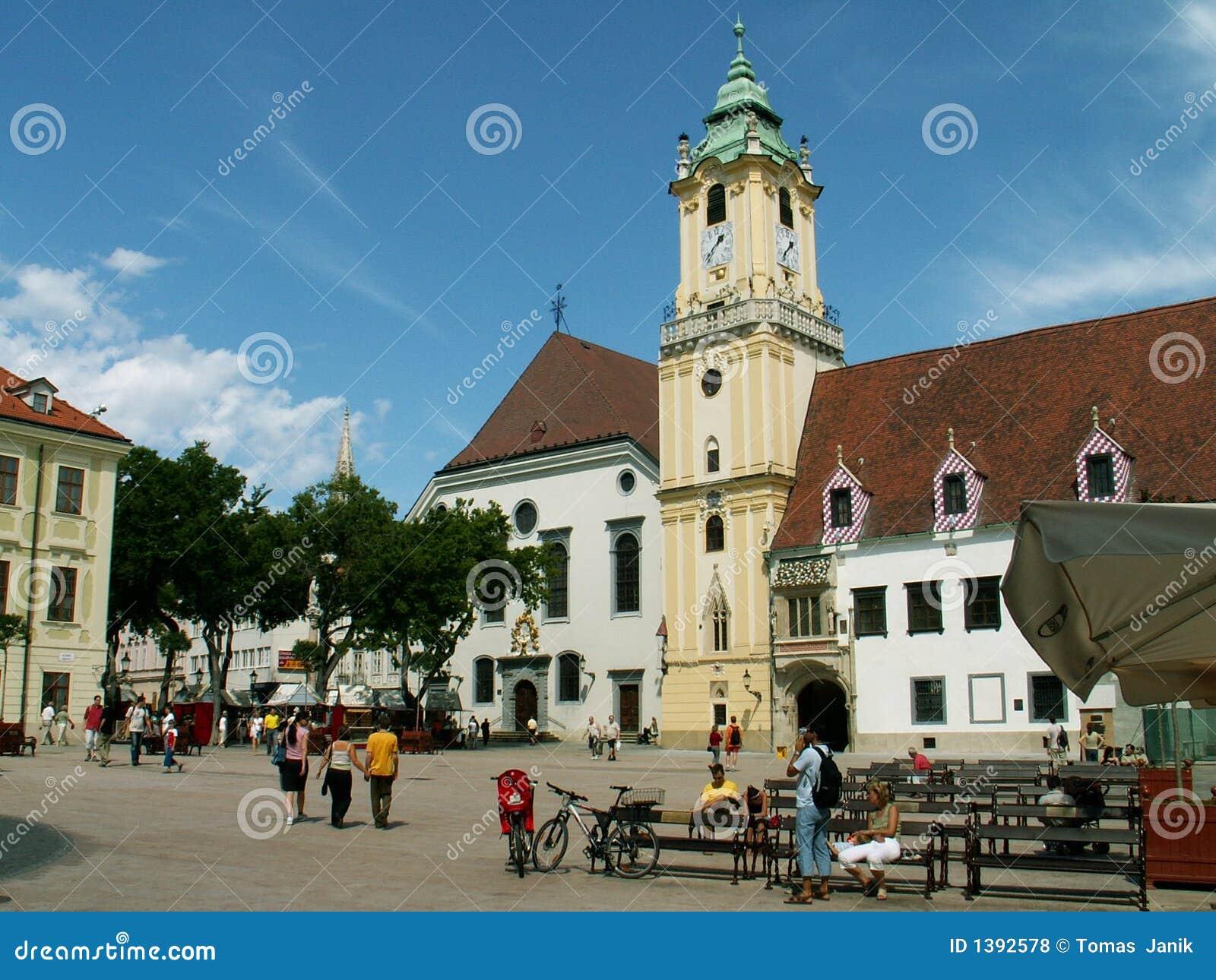 Bratislava central square