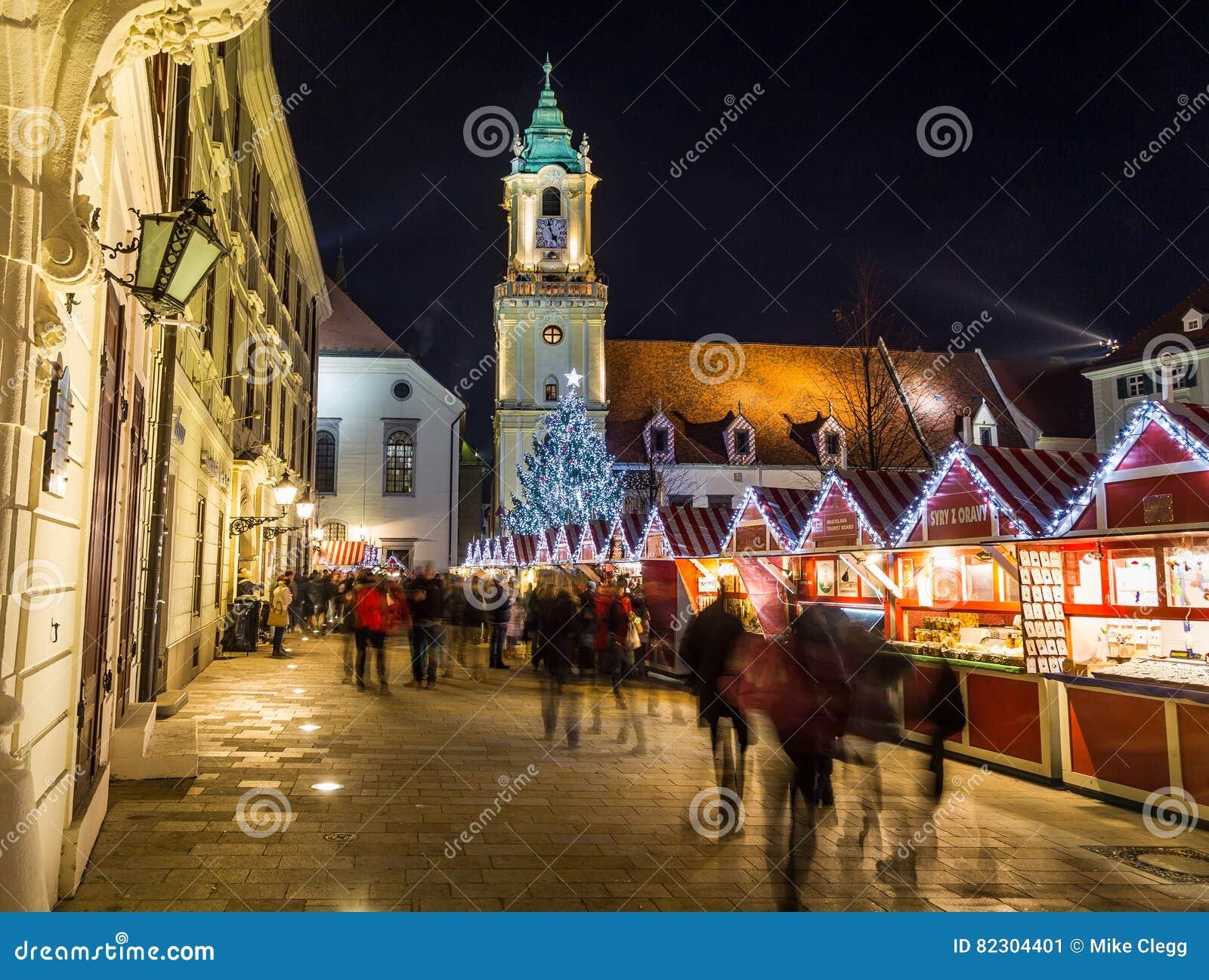 Christmas Bratislava.Bratislava Christmas Market Editorial Photo Image Of