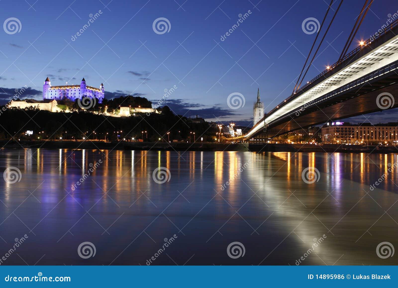 Bratislava en la noche