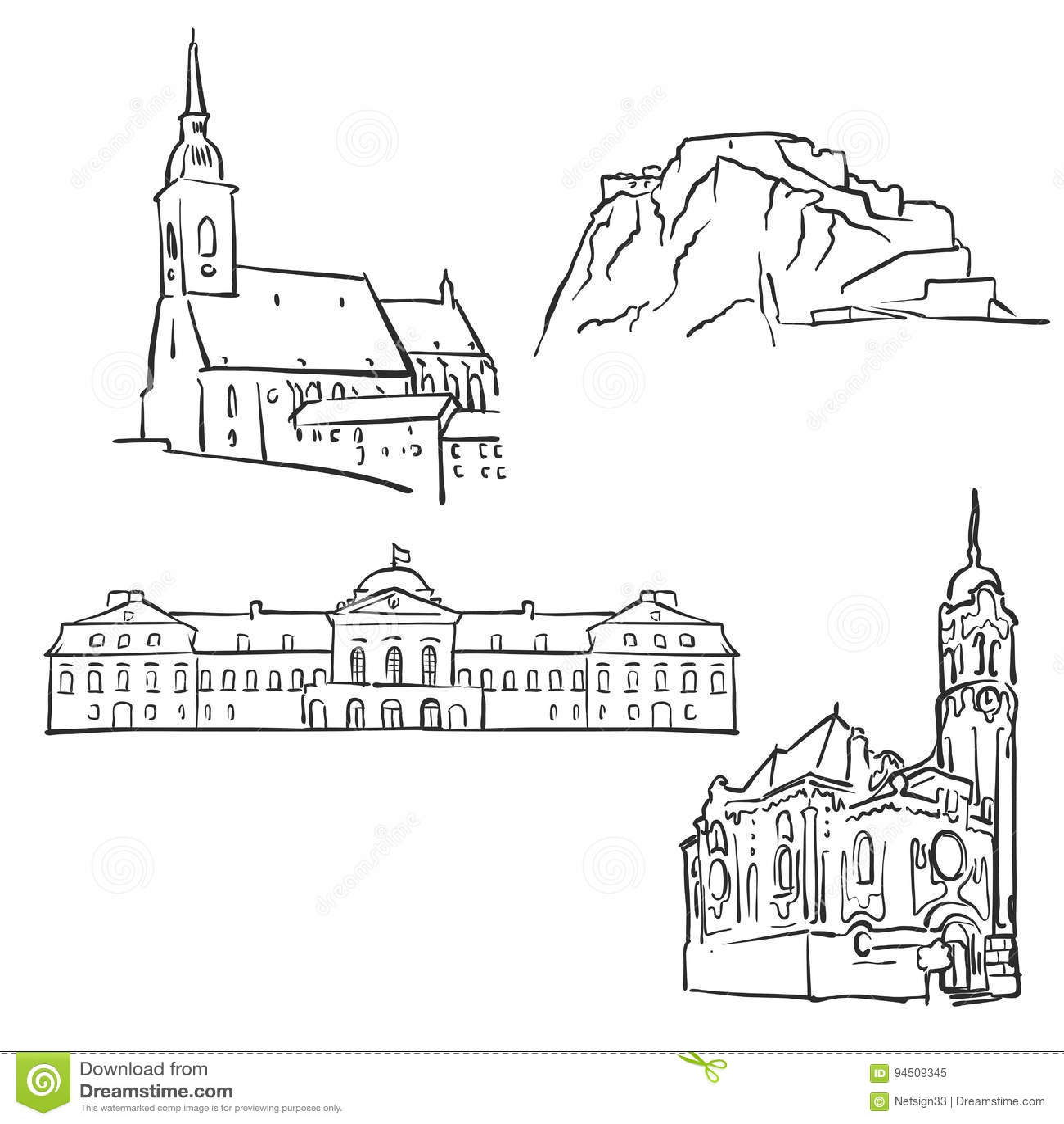 Bratislava, Eslovaquia, edificios famosos