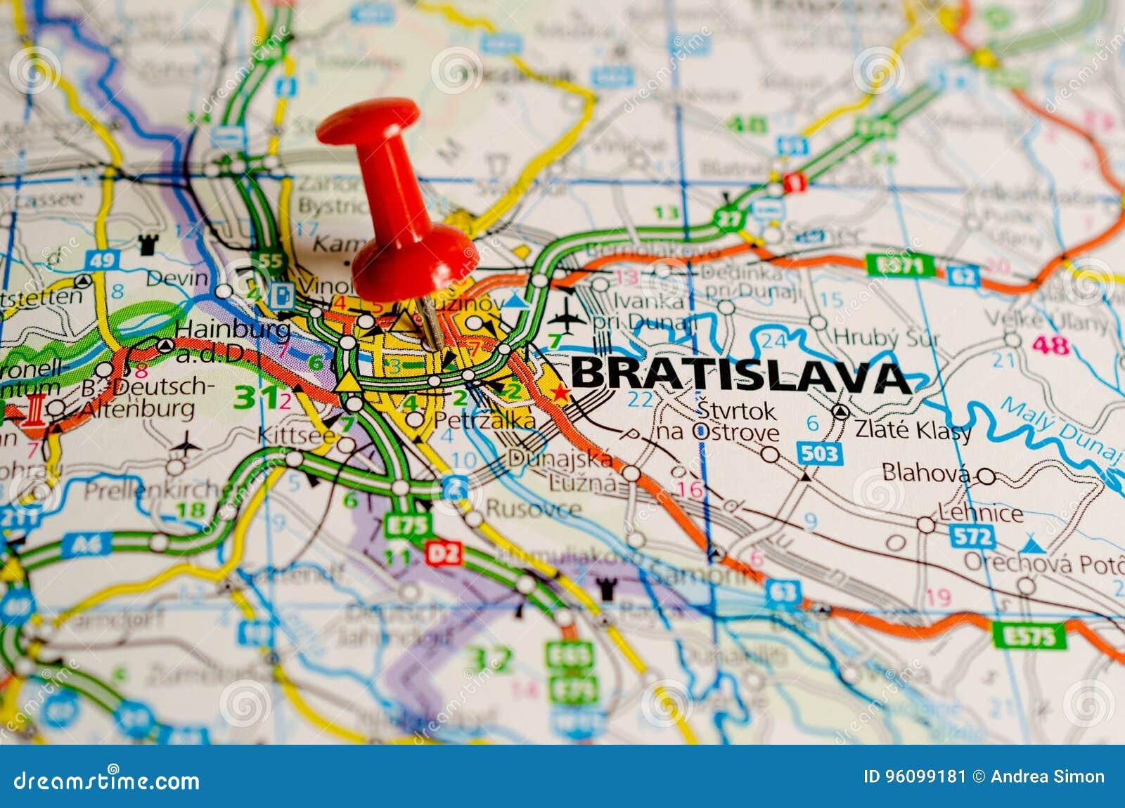 Bratislava sur la carte