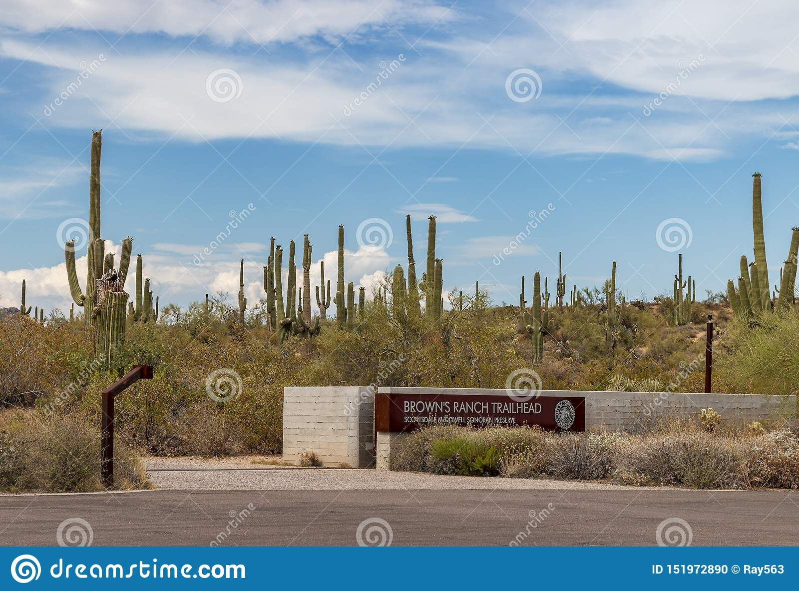 Braun-Ranch-Hinterkopf-Eingang in Scottsdale AZ