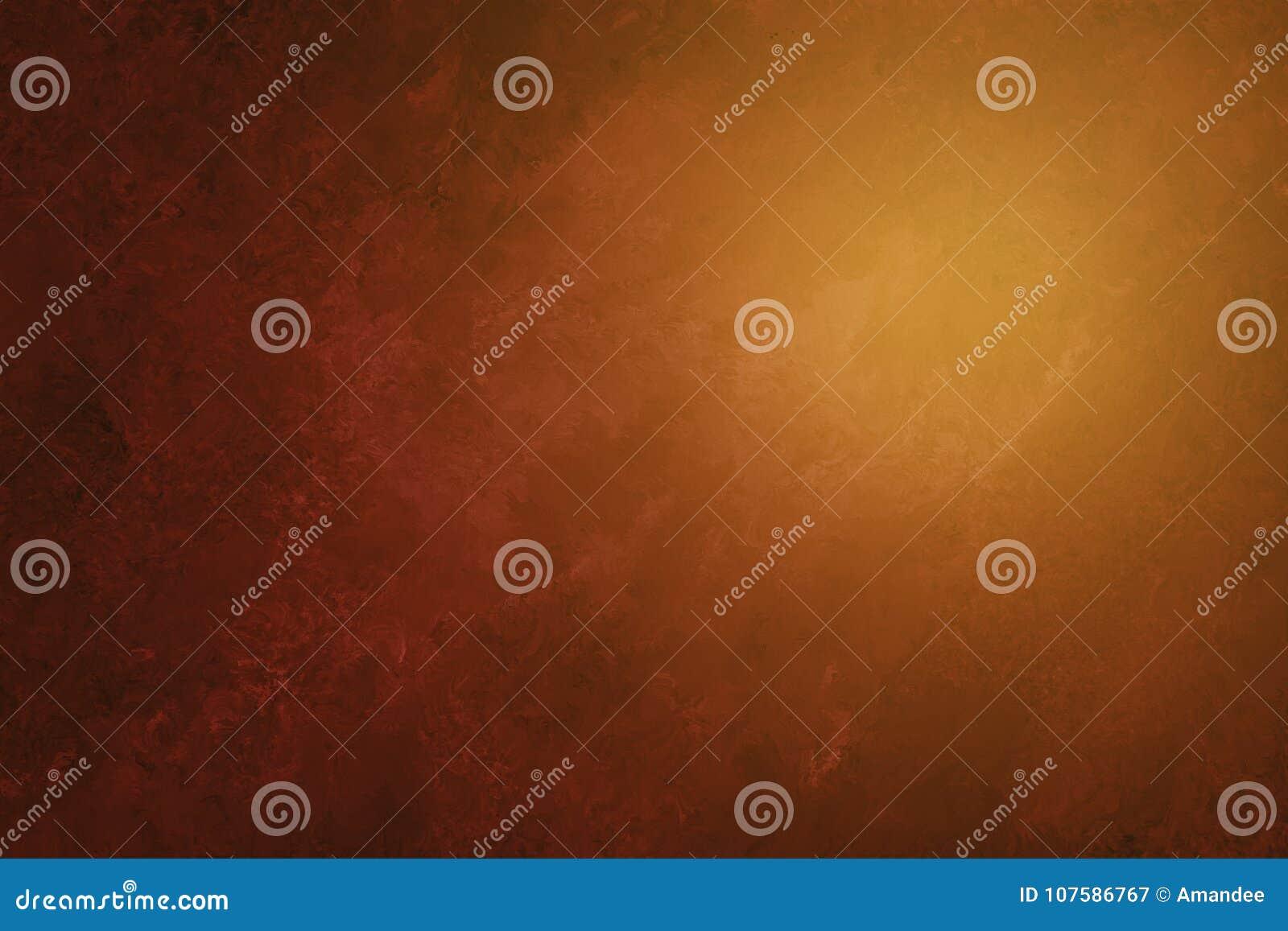 Brauner orange und schwarzer Luxushintergrund mit gemalter abstrakter Marmorbeschaffenheit in elegantem Design, in weichem Sonnen