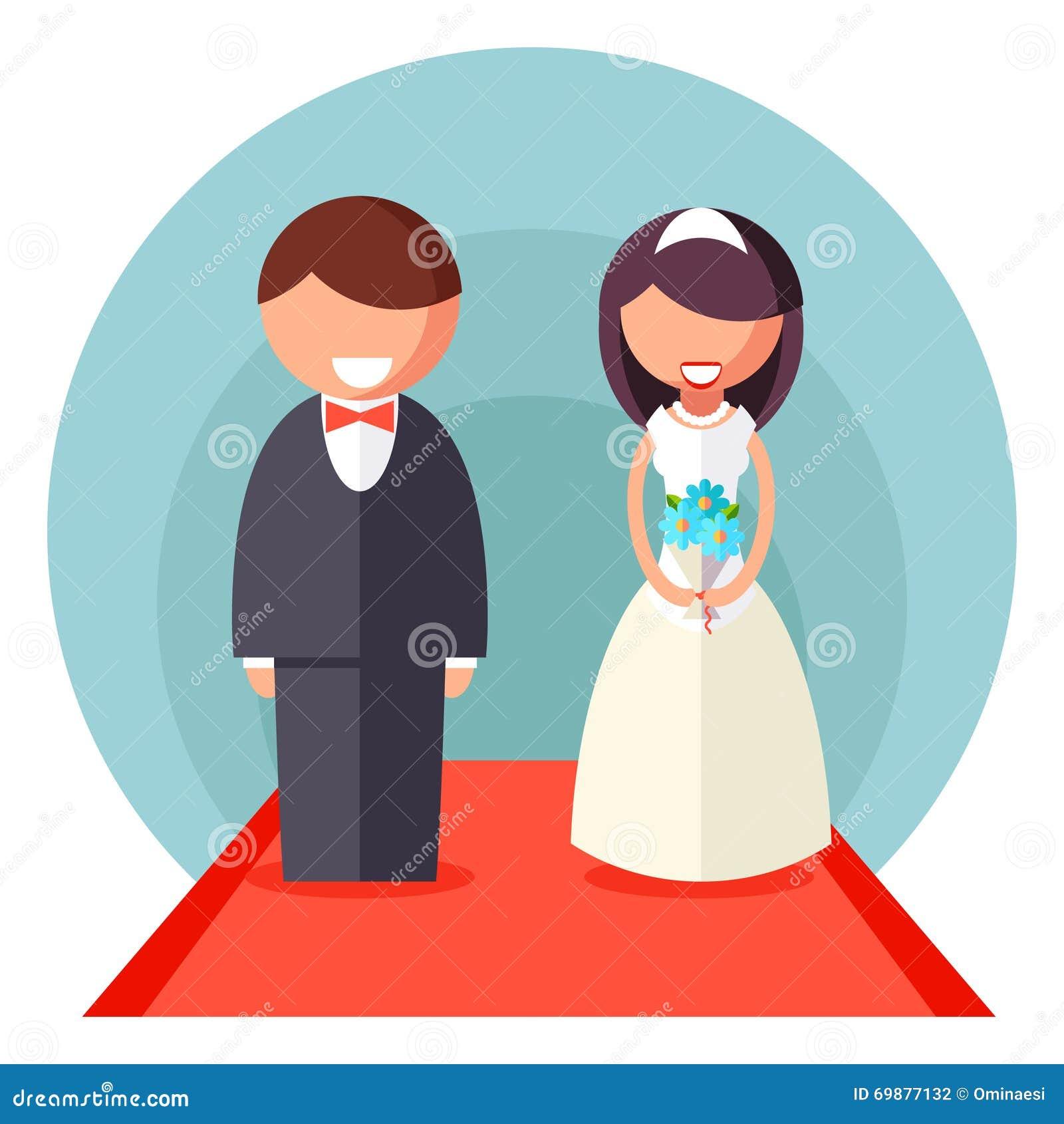 Wedding symbol  Braut-und Bräutigam-Marriage Icon Wedding-Symbol-Vector Die Flache ...