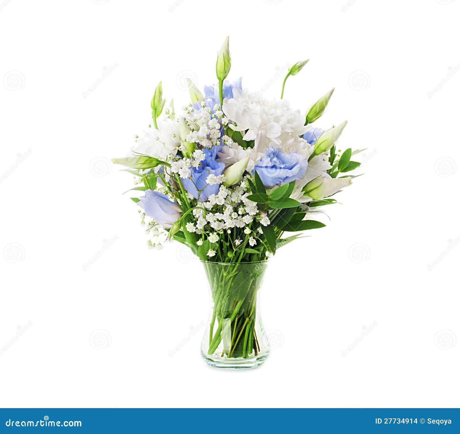 Brautblumenstrauß von weißem und von Blauem